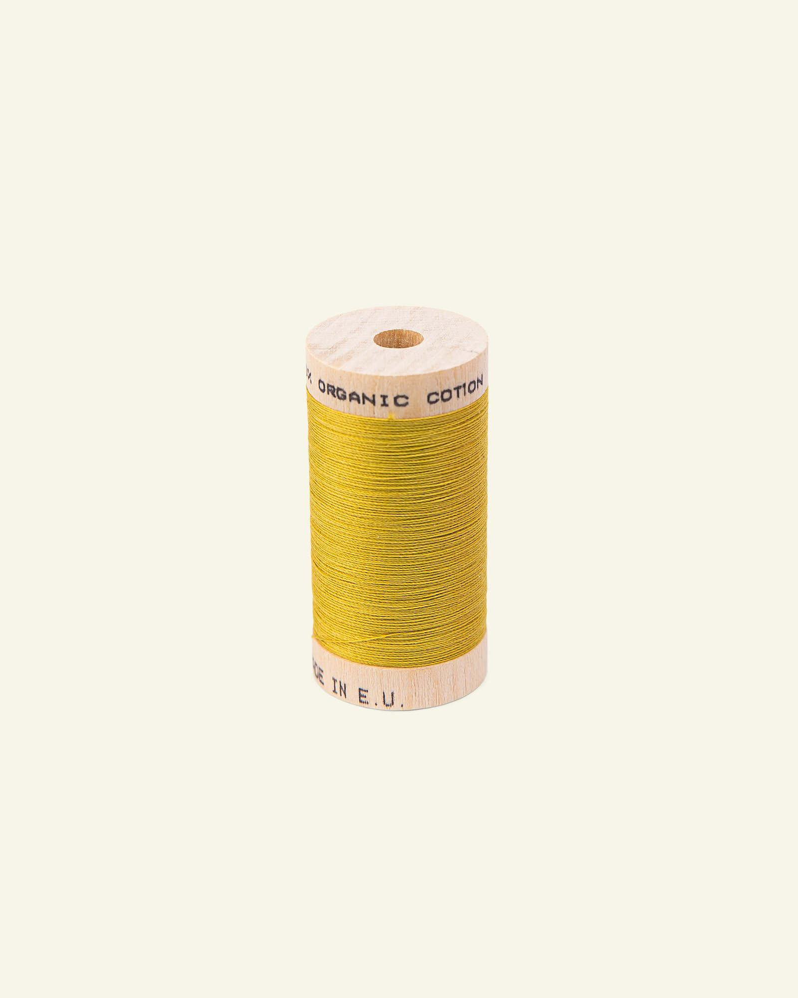 Sewing thread organic cotton olive 100m