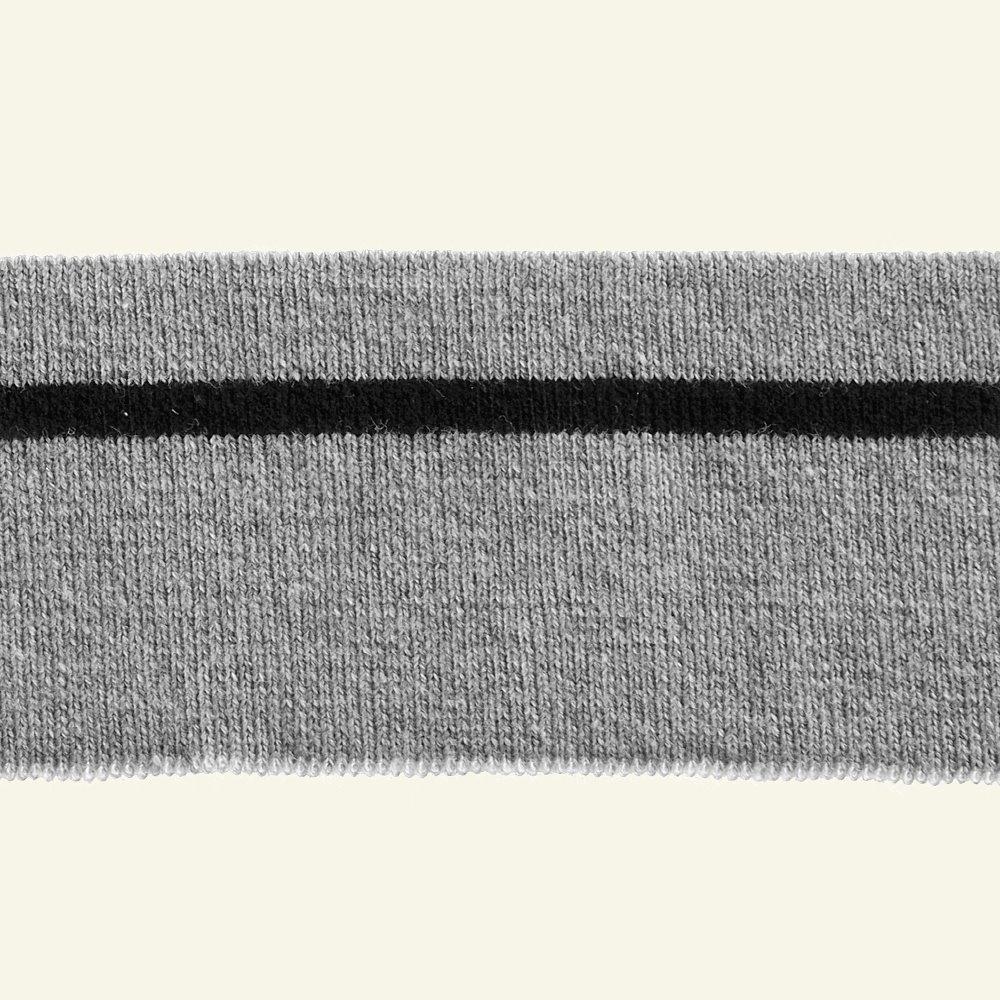 1x1 rib 4,8x100cm grey melange/black 1pc 96112_pack