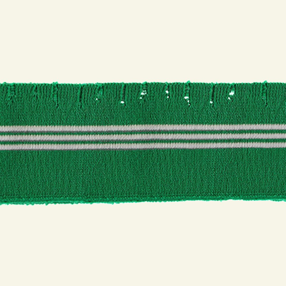 1x1 rib 6x80cm ripped edge green 1 pcs 96127_pack