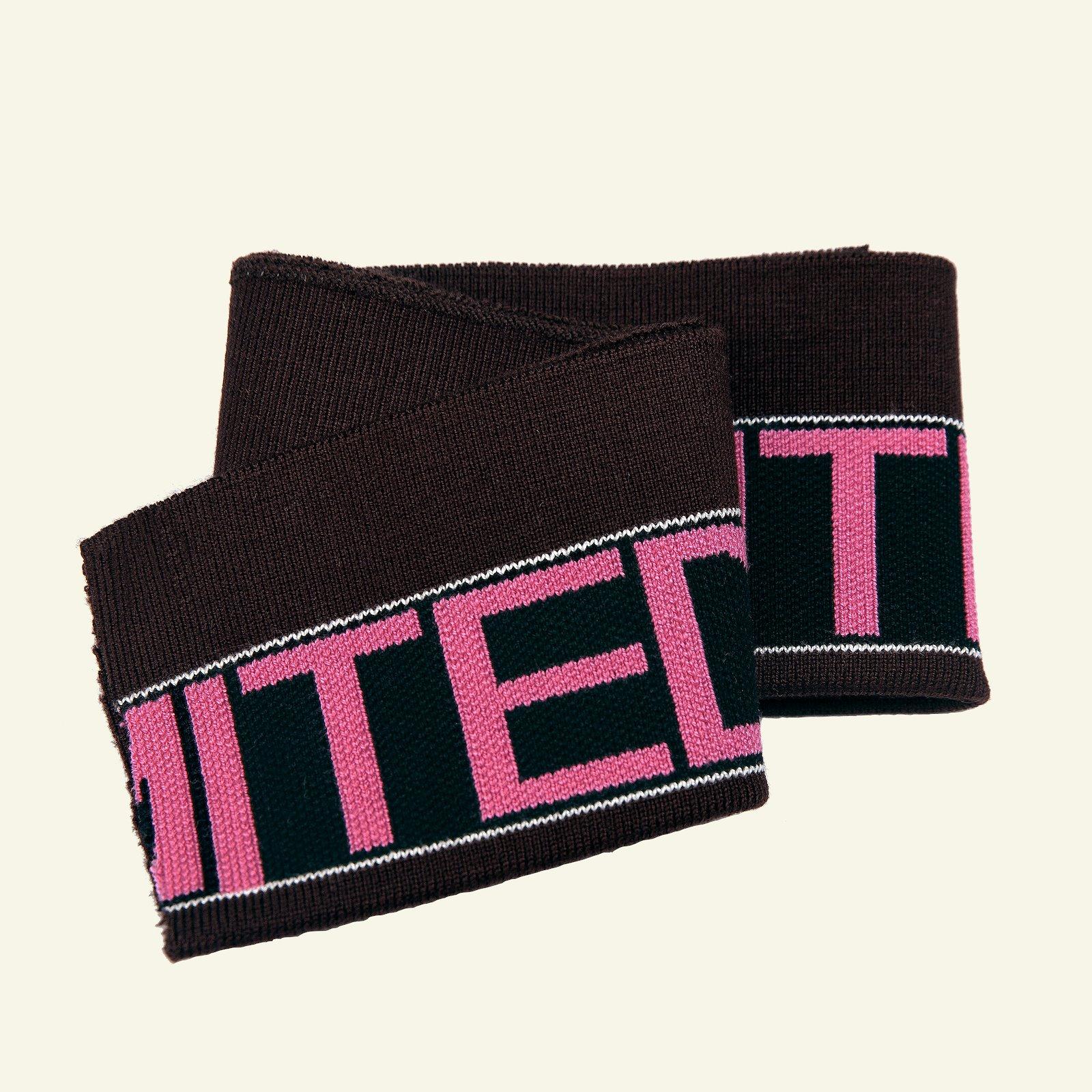 1x1 rib fold 13,5x100cm caramel/pink 1pc 96184_pack