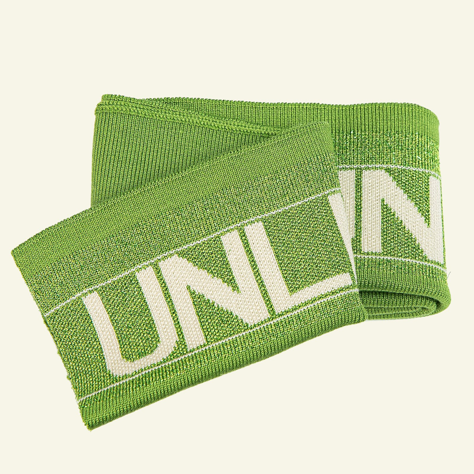 1x1 rib fold 13,5x100cm grøn lurex 1pc 96185_pack