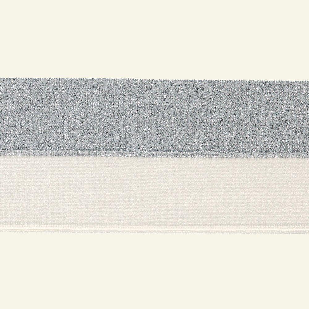 1x1 rib fold 3x100cm white/silverlurex 96111_pack
