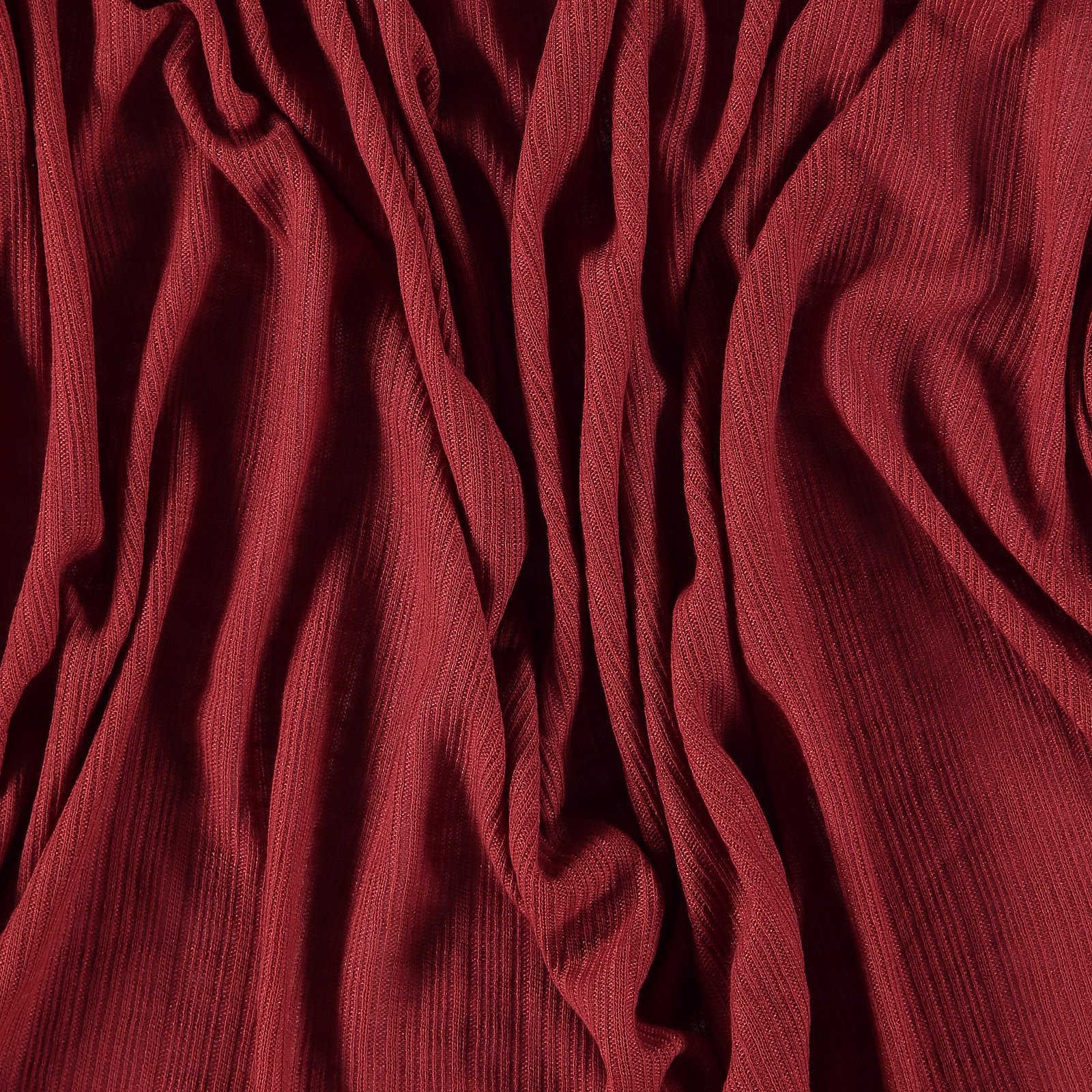 Light polyester knit red