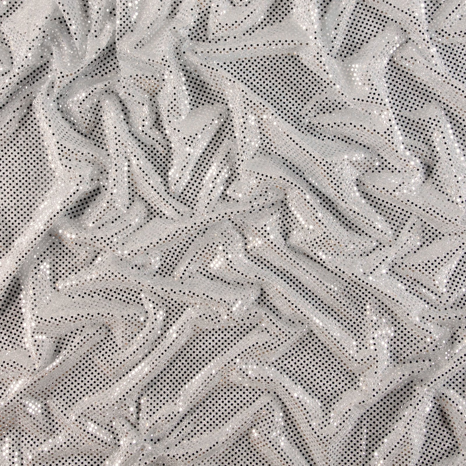 Knit with foil sequins silver 3mm