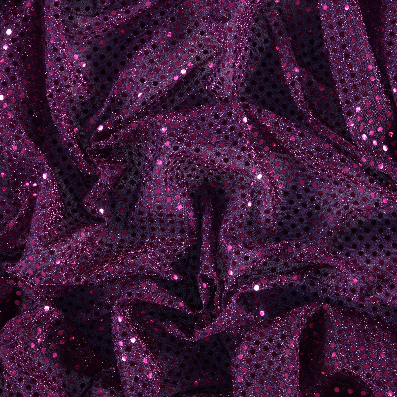 Knit with foil sequins purple 3mm