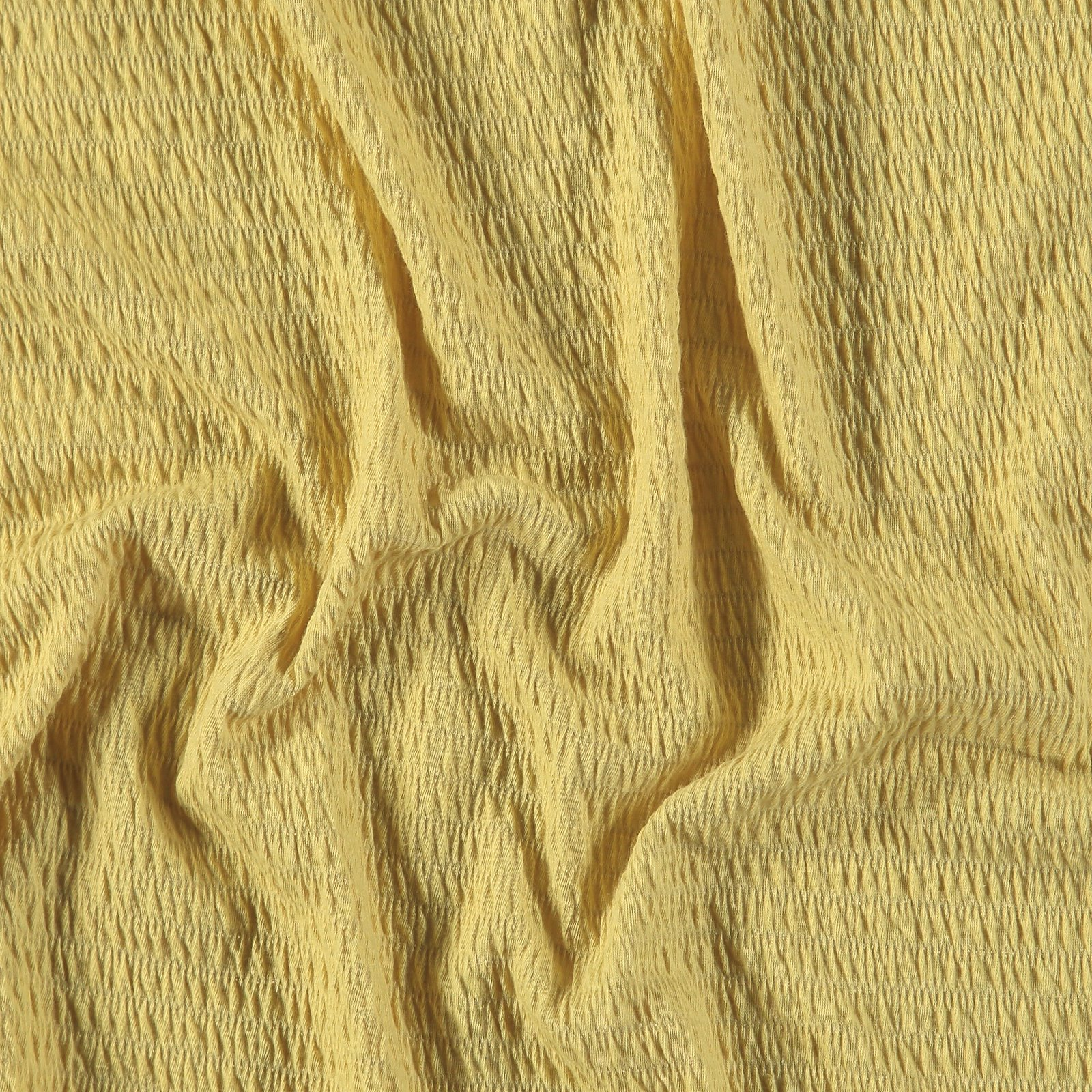 Jersey with smock effect dusty yellow