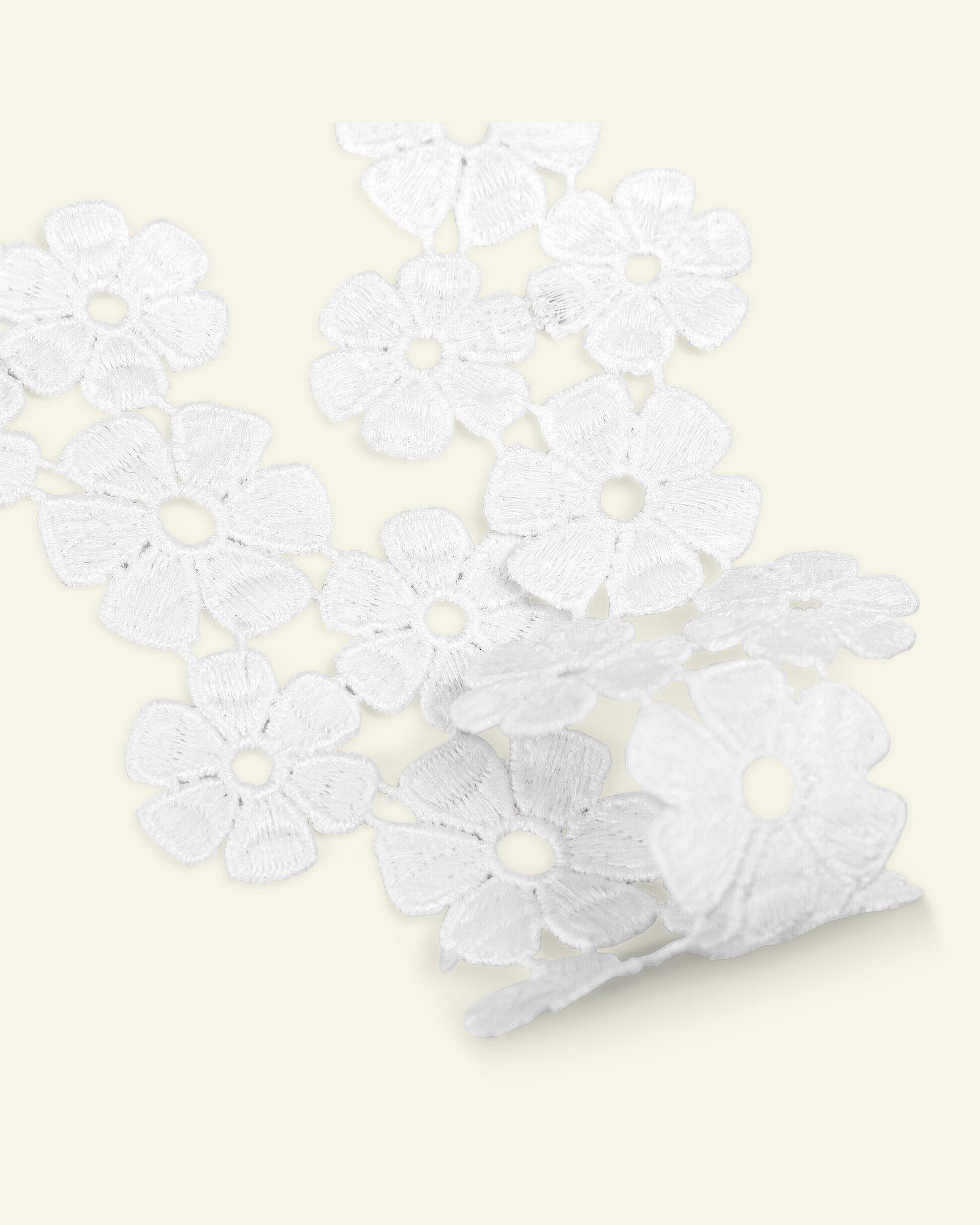 Ribbon flower 53mm white 1,5m