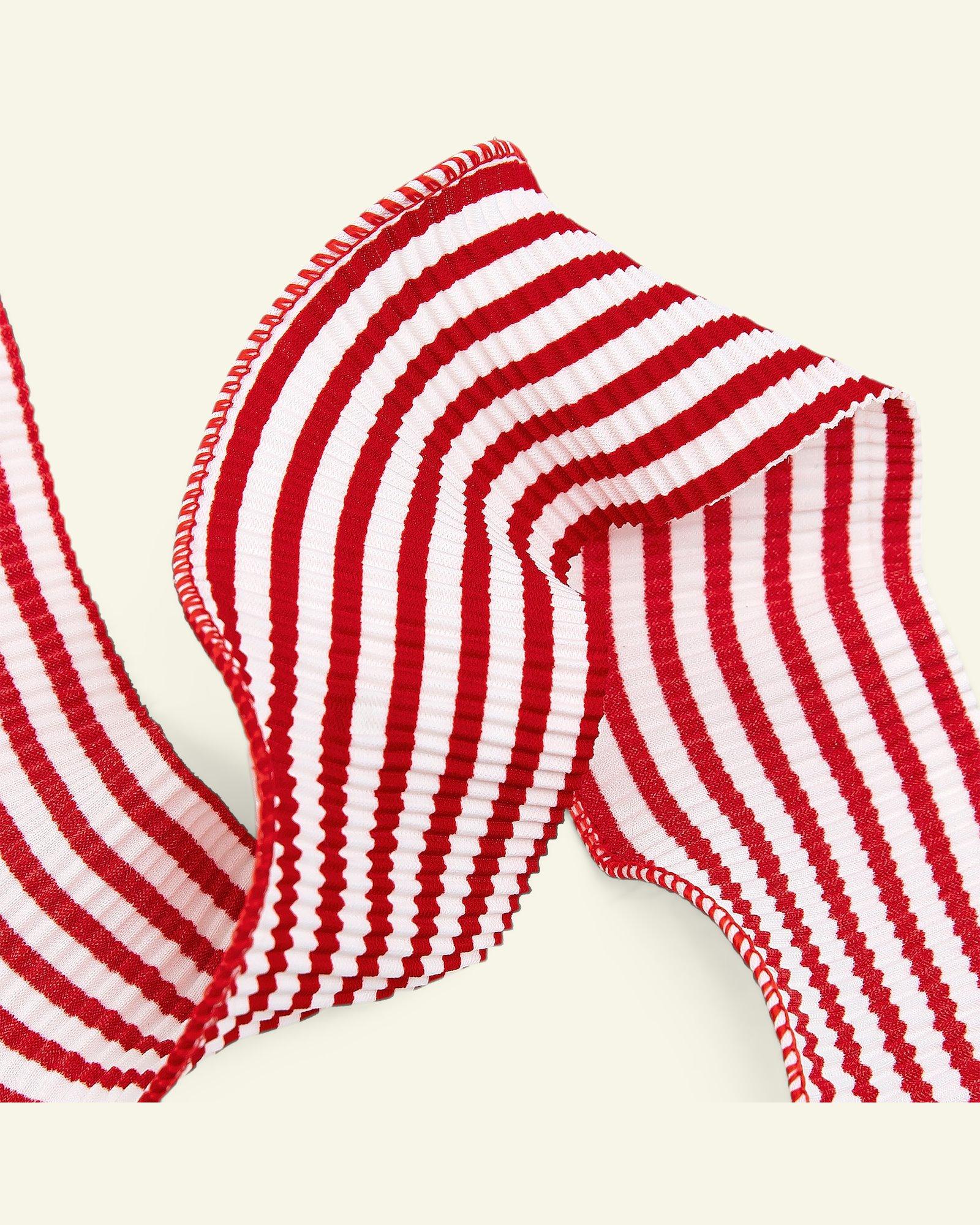 Ribbon pleat 45mm red/white 2m