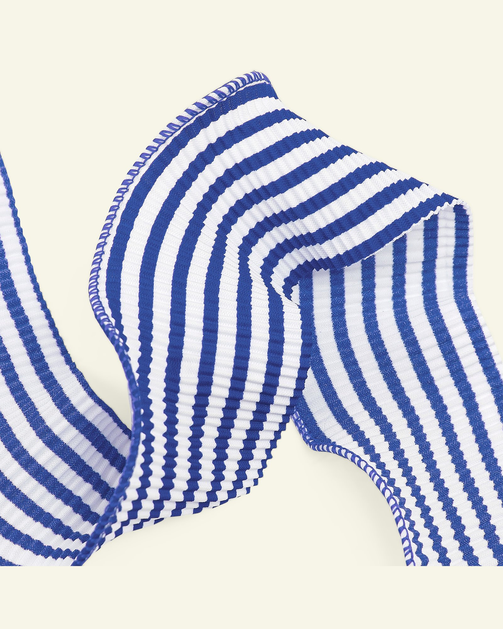 Ribbon pleat 45mm blue/white 2m