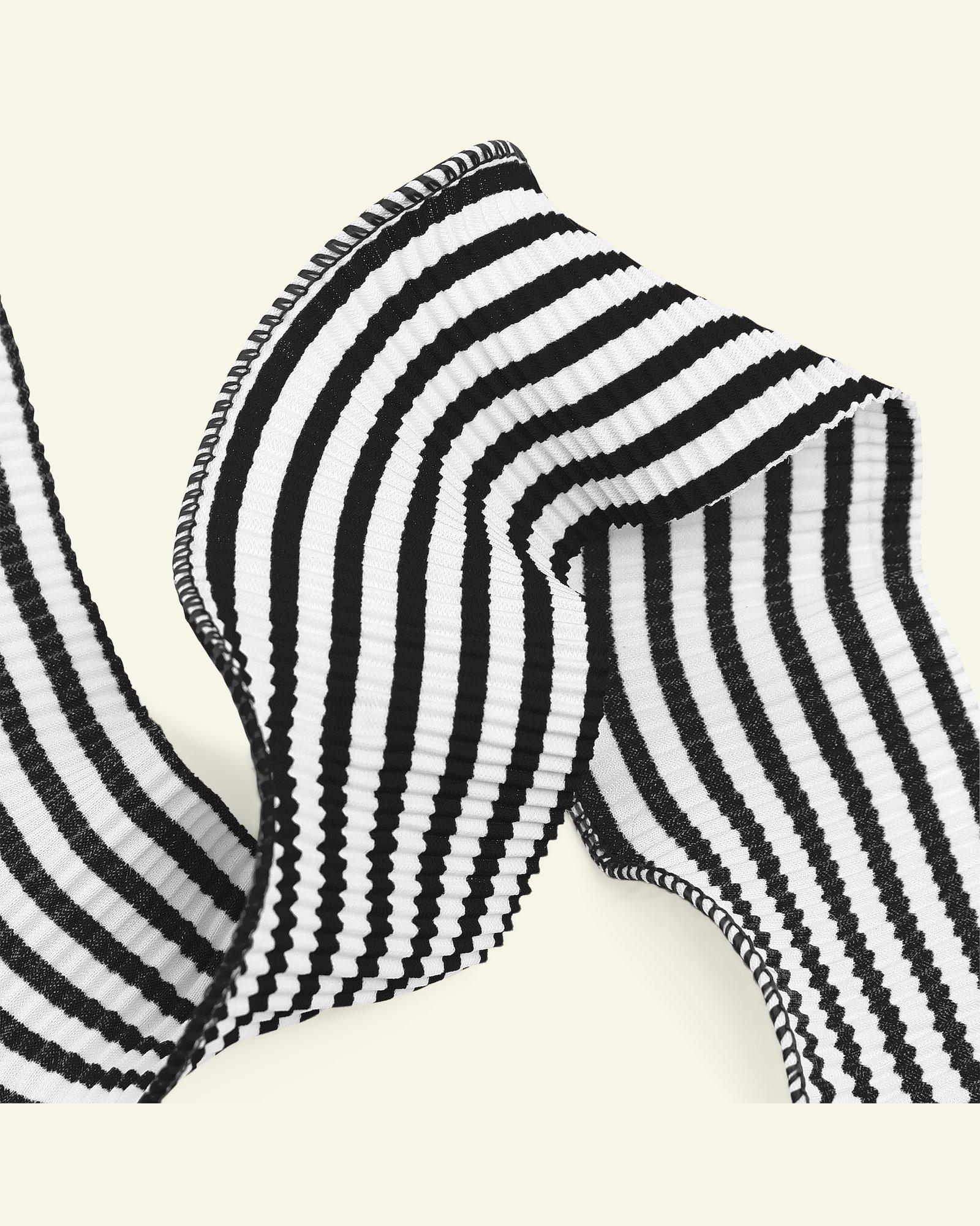 Ribbon pleat 45mm black/white 2m