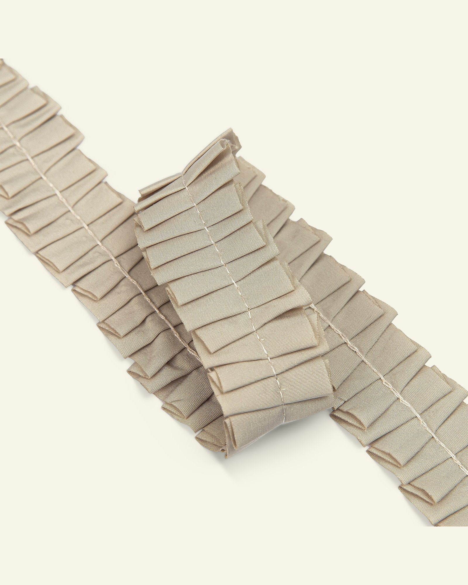 Ribbon ruffle 25mm beige 2m