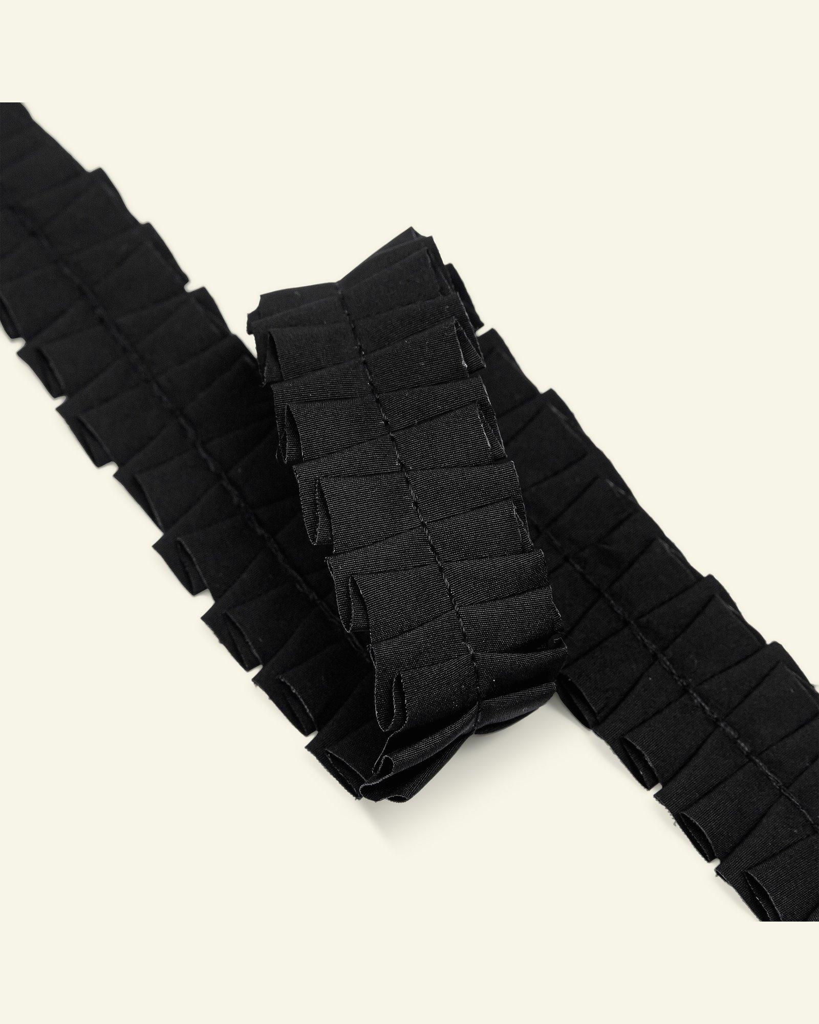 Ribbon ruffle 25mm black 2m
