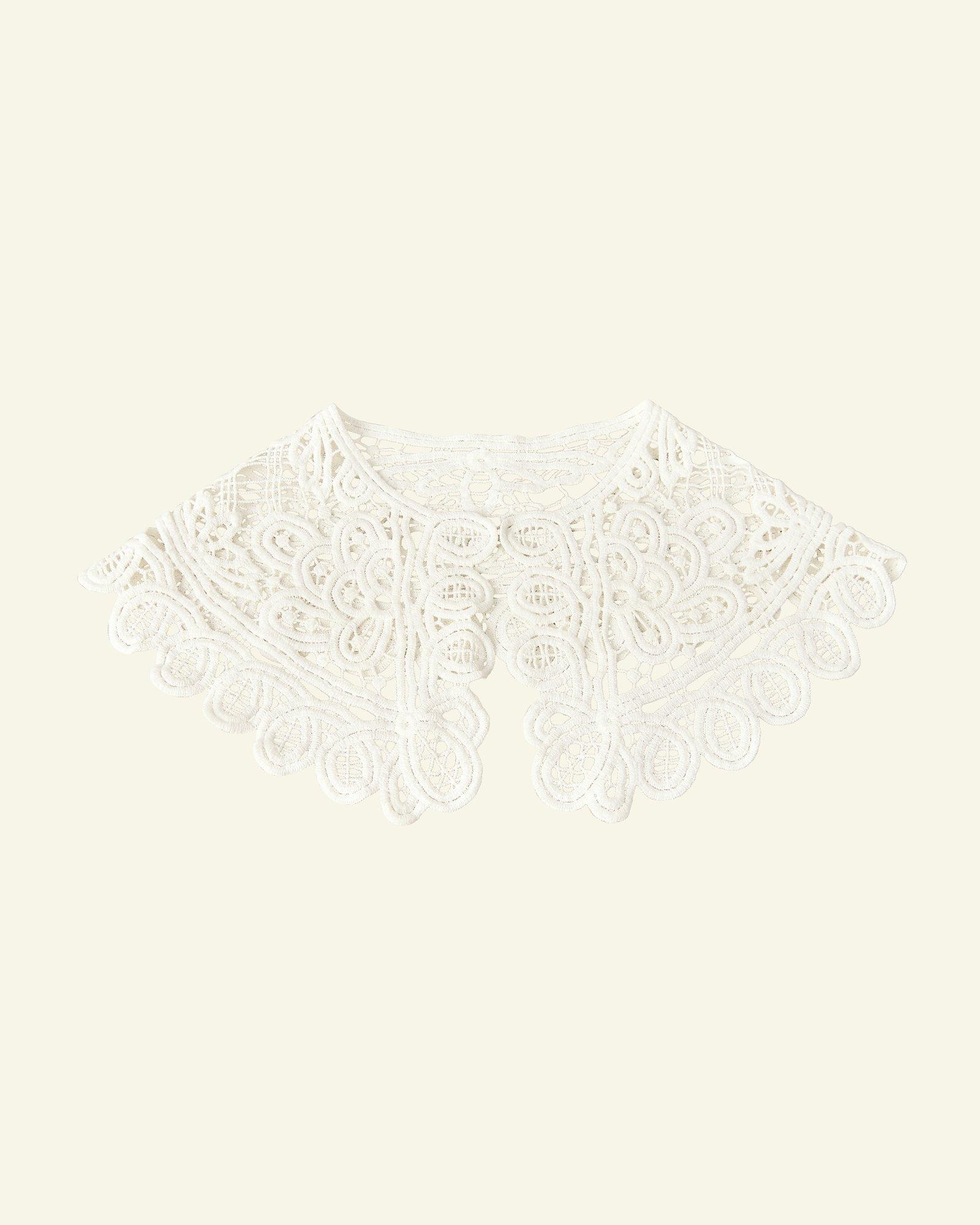 Spitzen-Baumwollkragen 70x17cm Weiß, St.