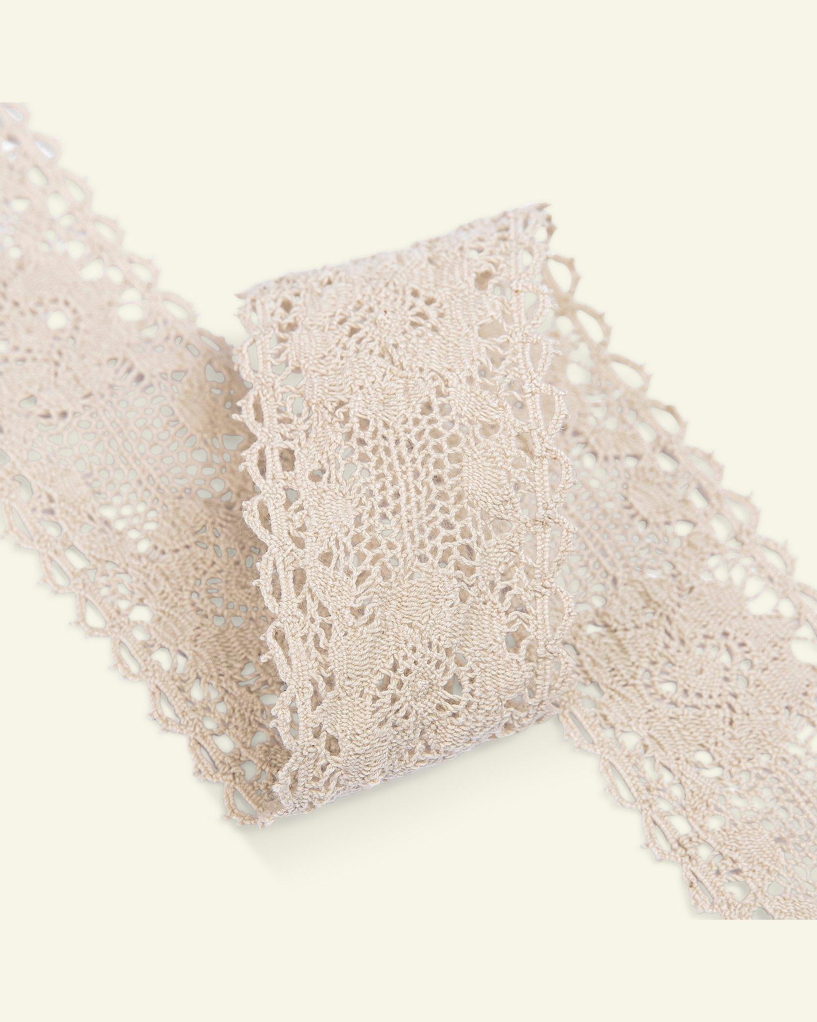 Lace cotton 45mm sand 1,5m