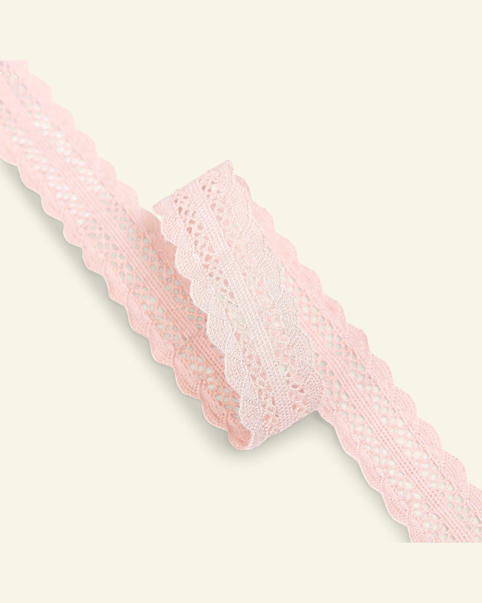 Lace cotton 22mm light dusty rose 1,5m