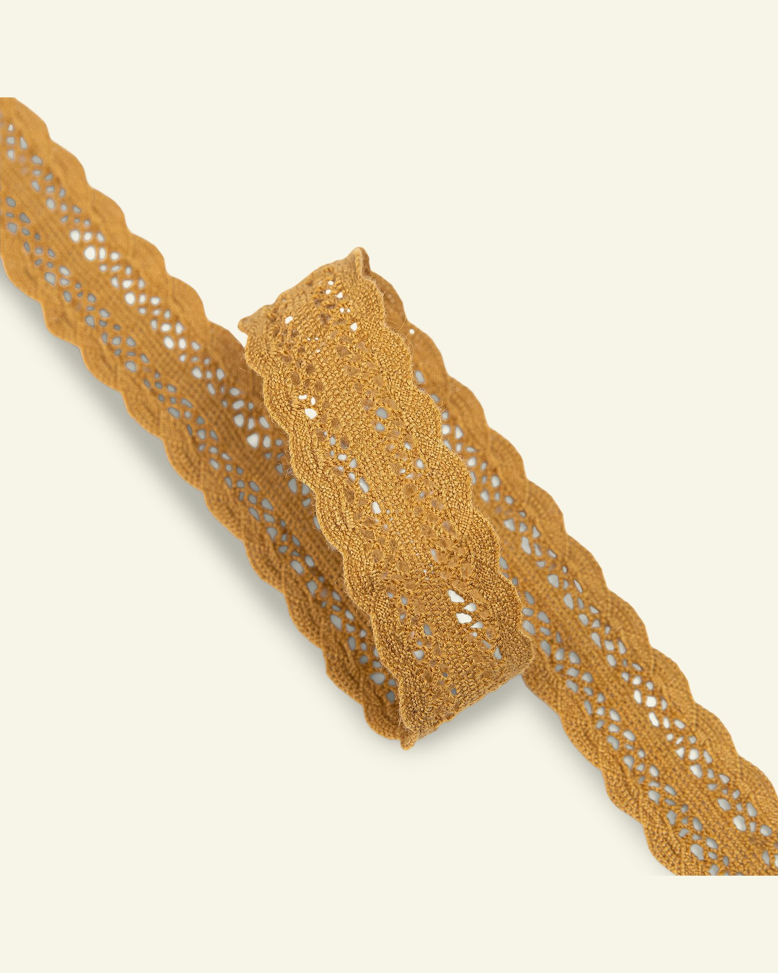 Lace cotton 22mm dusty curry 1,5m