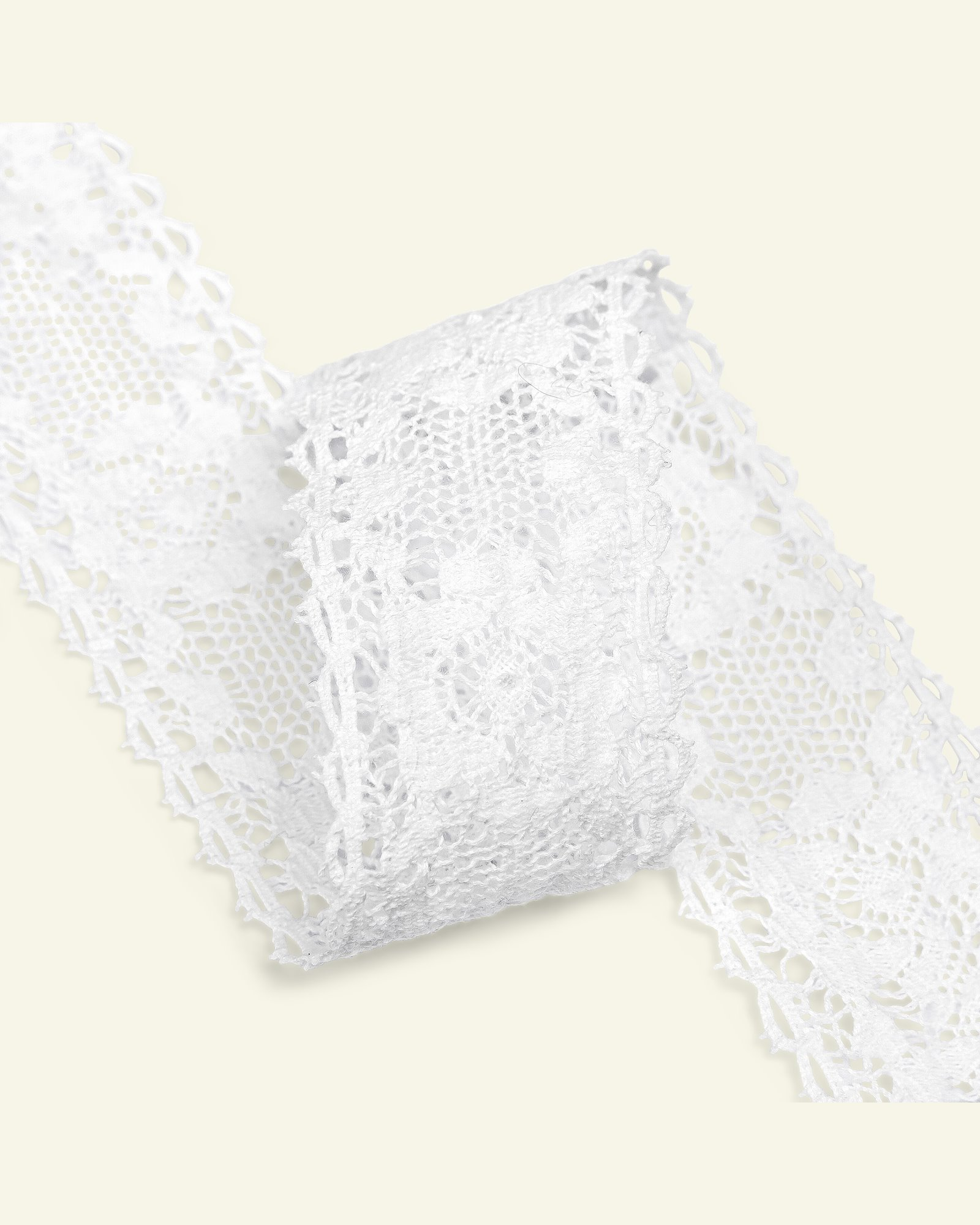 Lace cotton 45mm white 1,5m