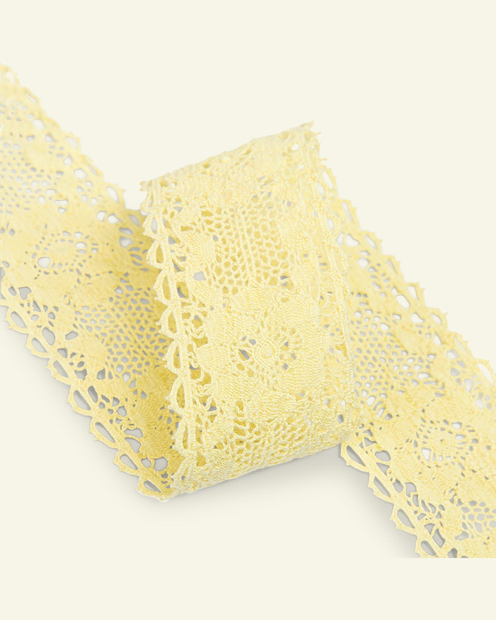 Lace cotton 45mm light lemon  1,5m