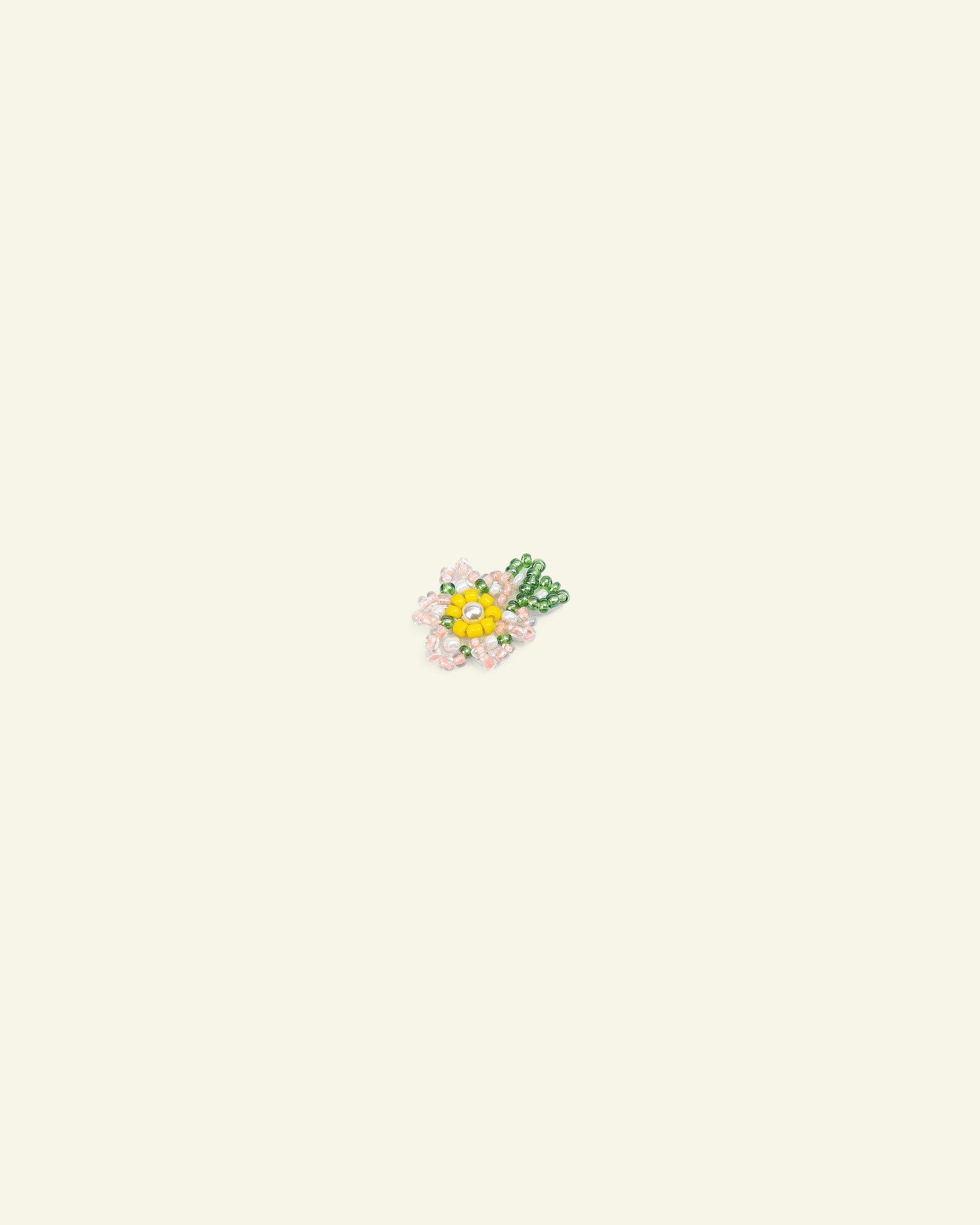 Patch flower 25x19mm pearl 2pcs