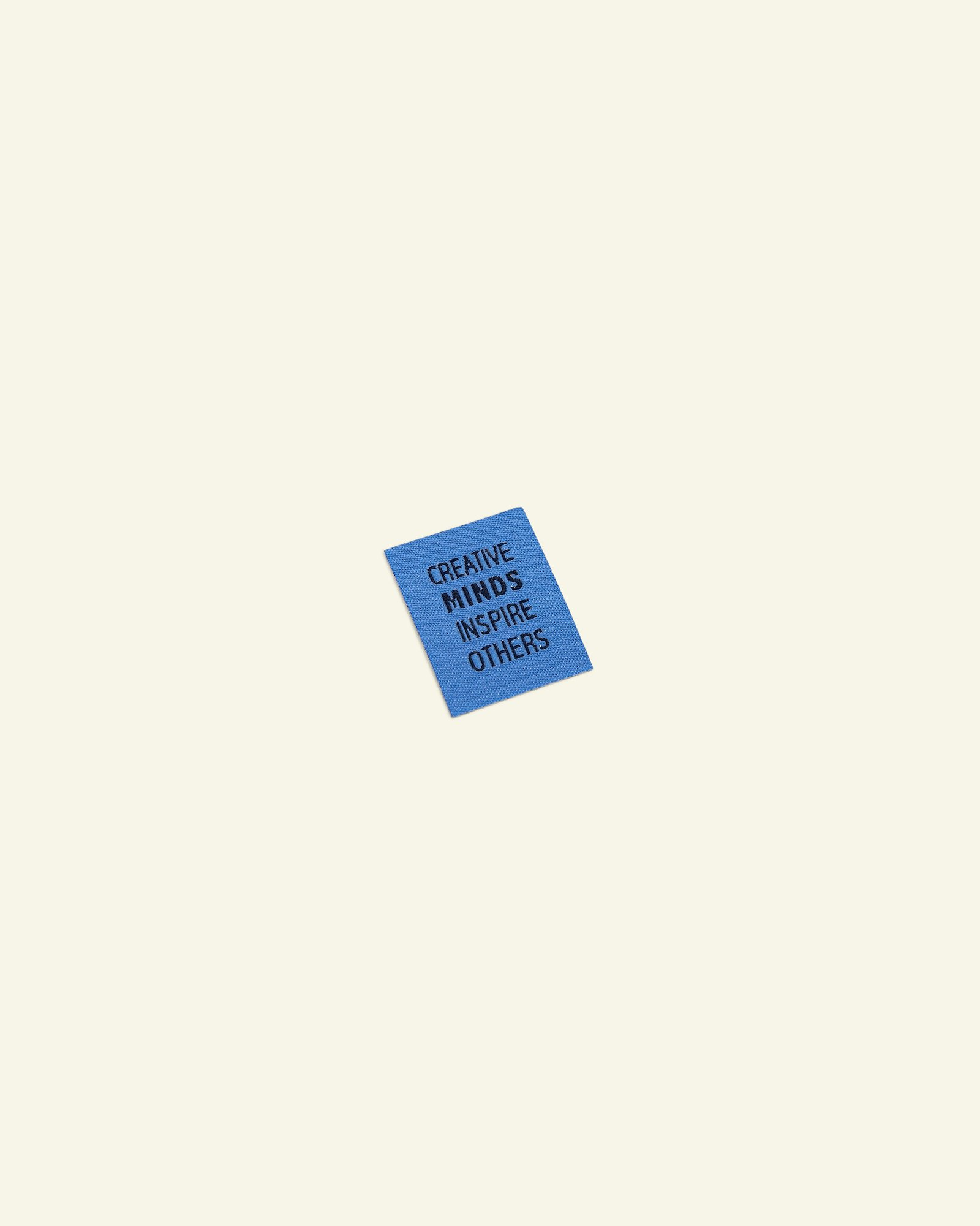 "Patch ""creative minds"" 33x25mm blue 1 pc"
