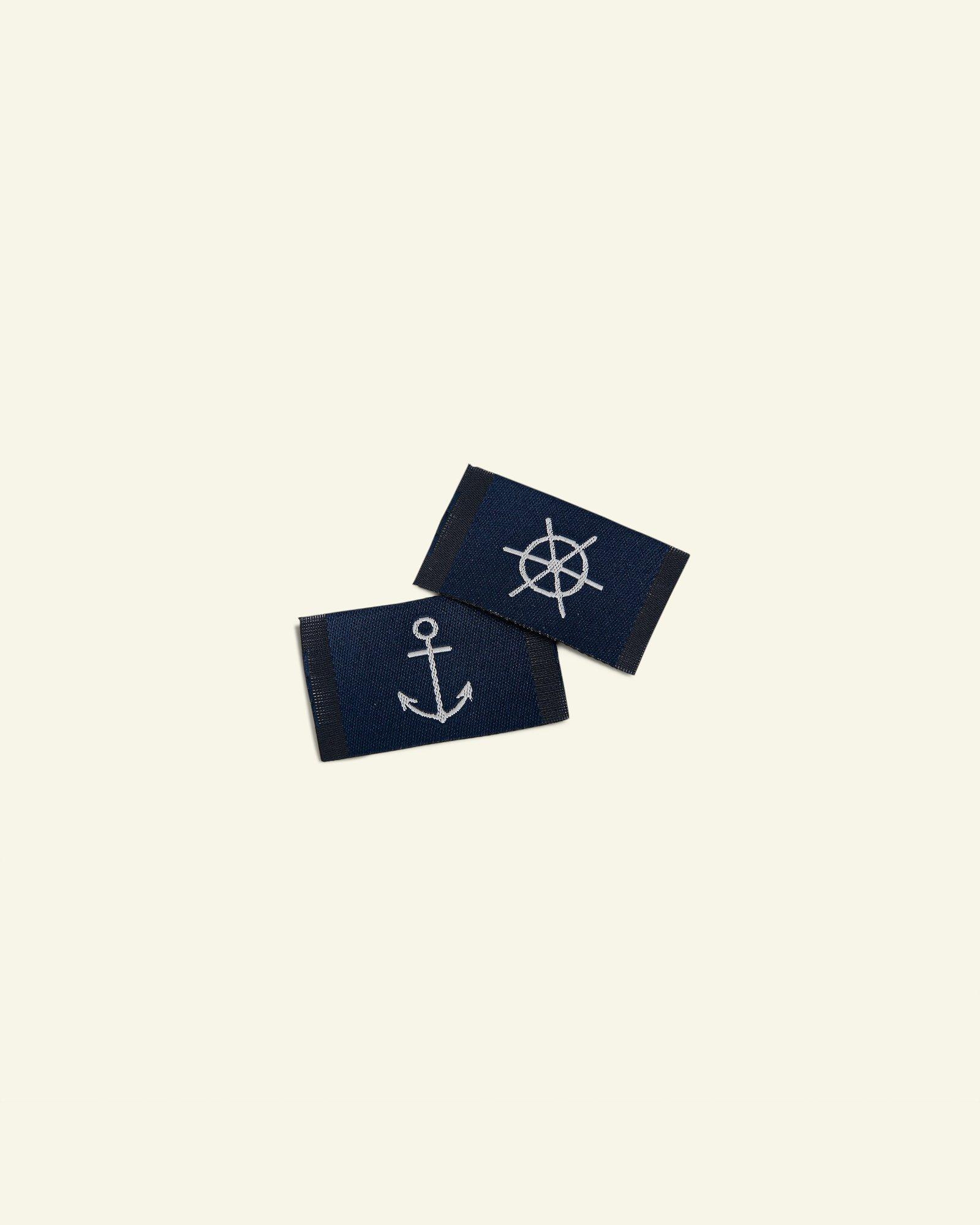 Patch anchor/helm 25x30mm navy 2pcs