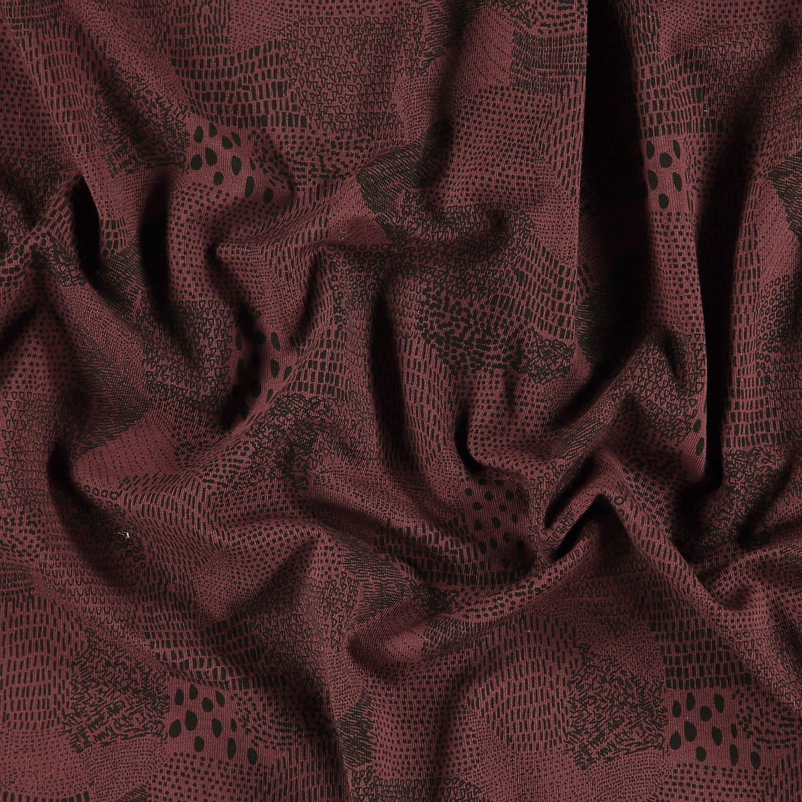 Organic jersey, Heidekraut mit Muster