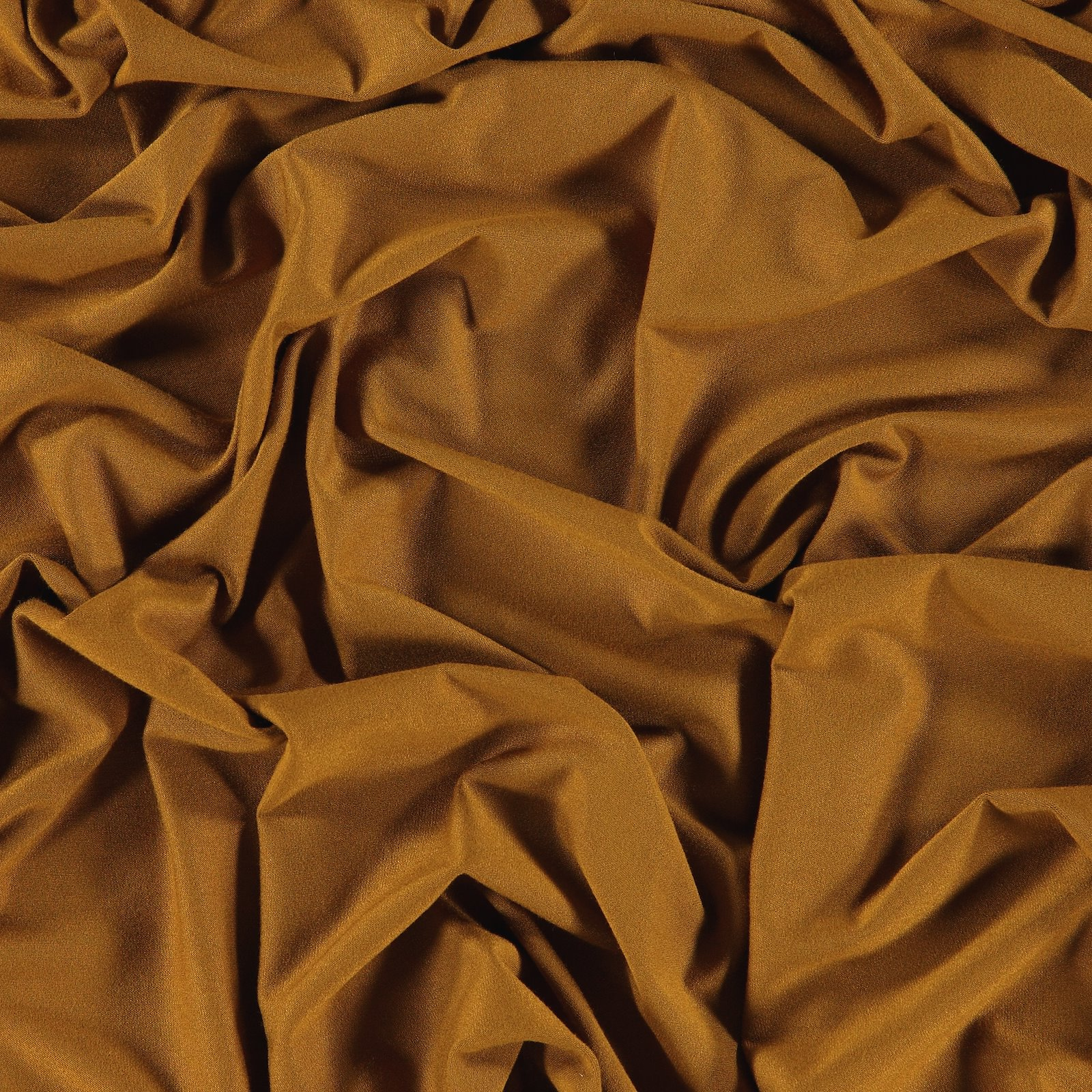 Viscose jersey dark golden brown