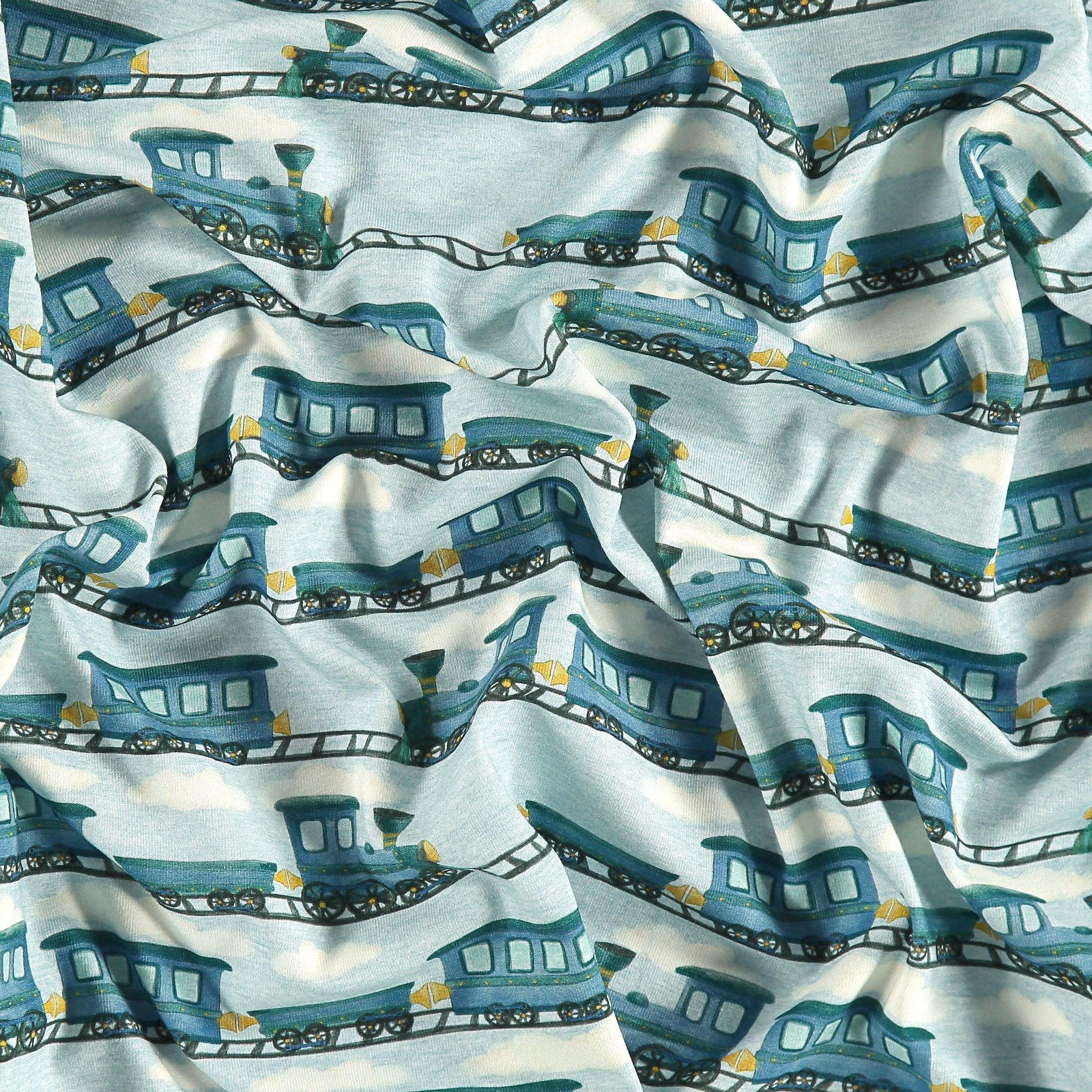 Organic stretch jersey blue w train