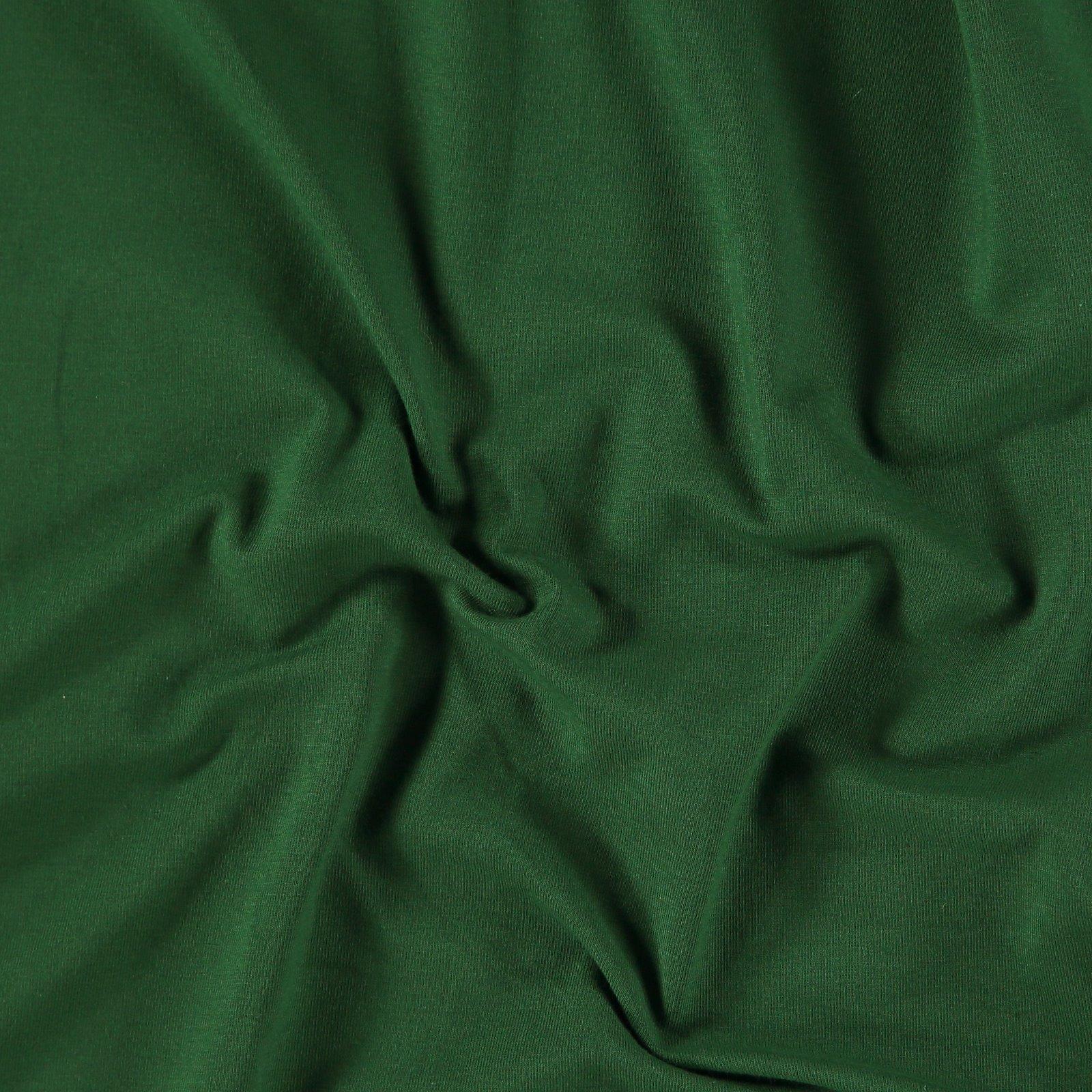 Organic stretch jersey dark green