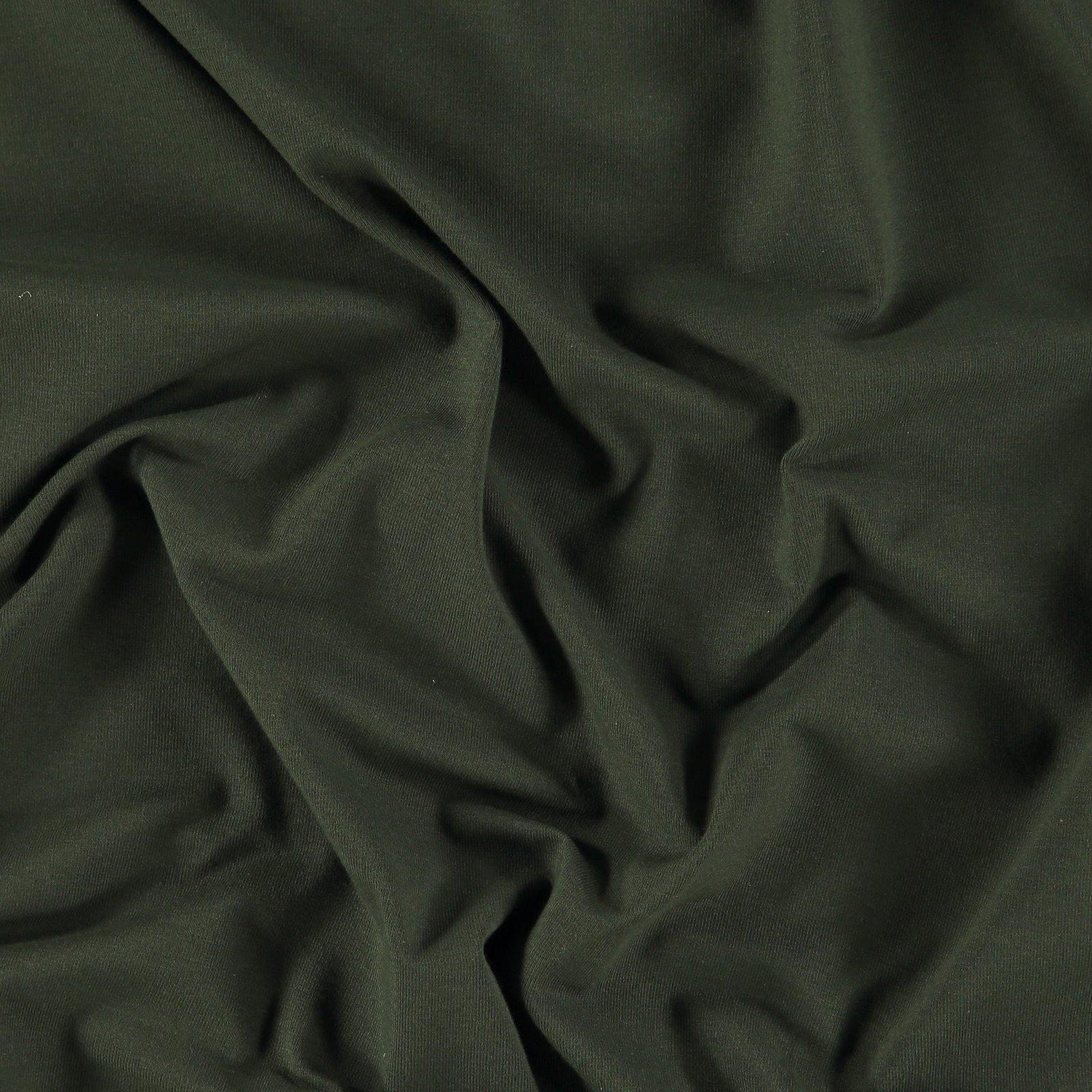 Organic stretch jersey army green