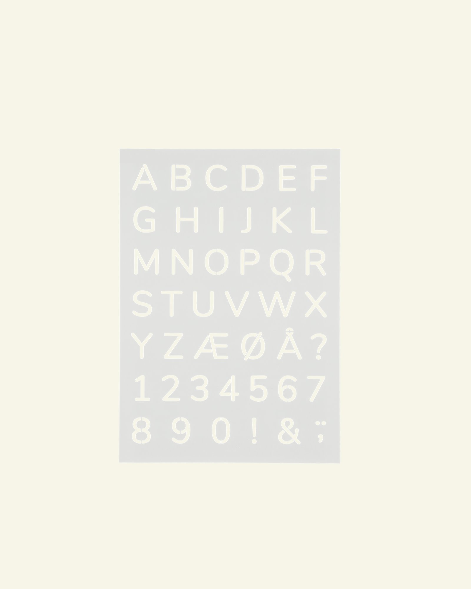 Stencil-Plastikschablone Alphabet15x21cm