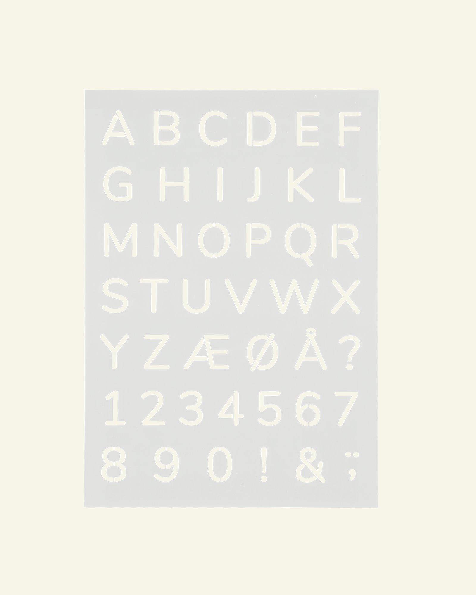 Stencil-Plastikschablone Alphabet21x30cm