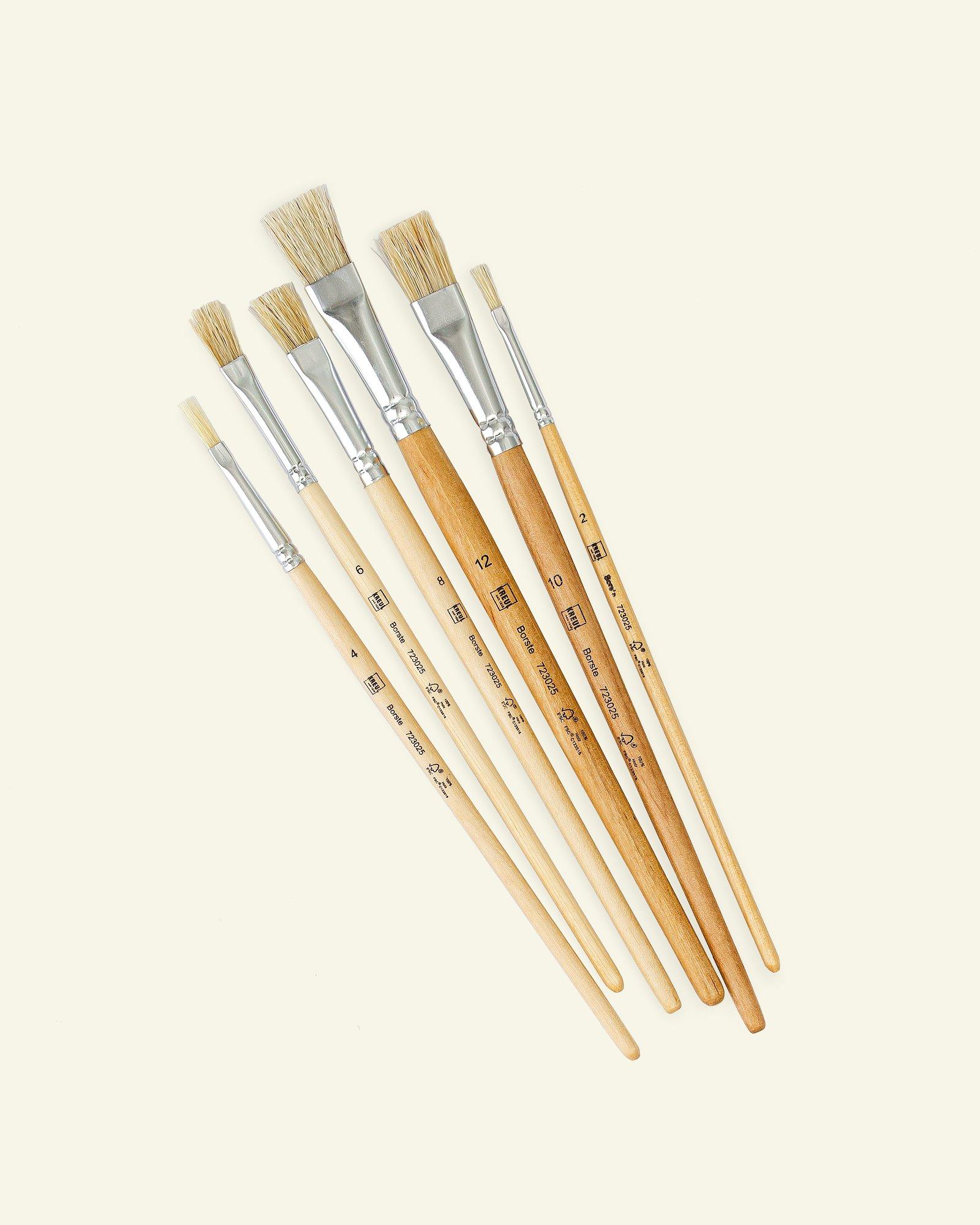 Kreul universal Brush Bristle flat 6pcs
