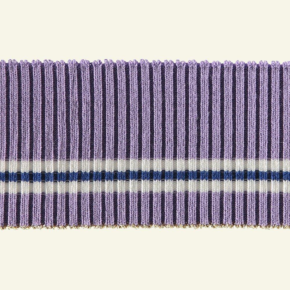 2x2 rib 5x80cm purple/white/gold lurex 96129_pack