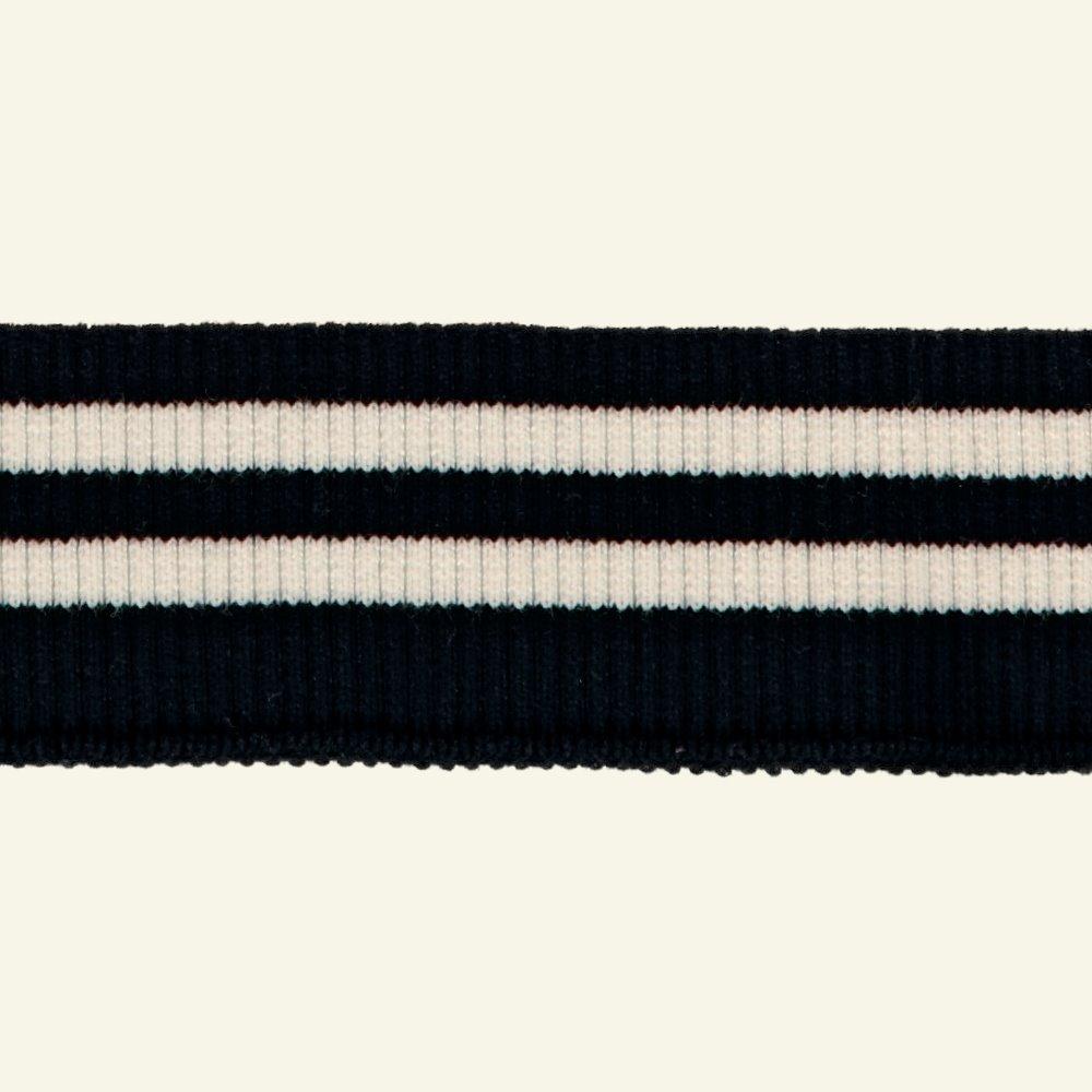 2x2 rib 5x90cm black/white 1pc 96085_pack