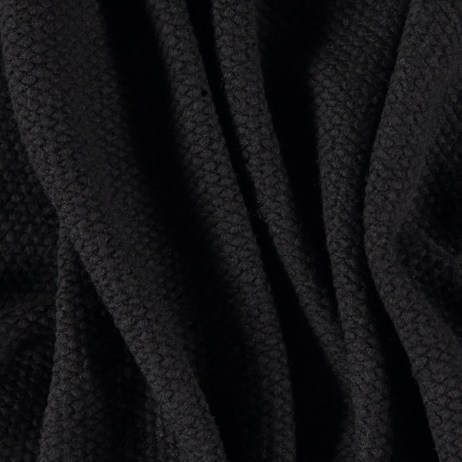 Knit wool boucle black