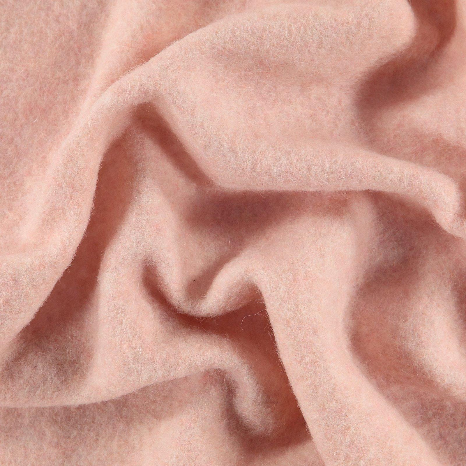 Wool felt light powder melange