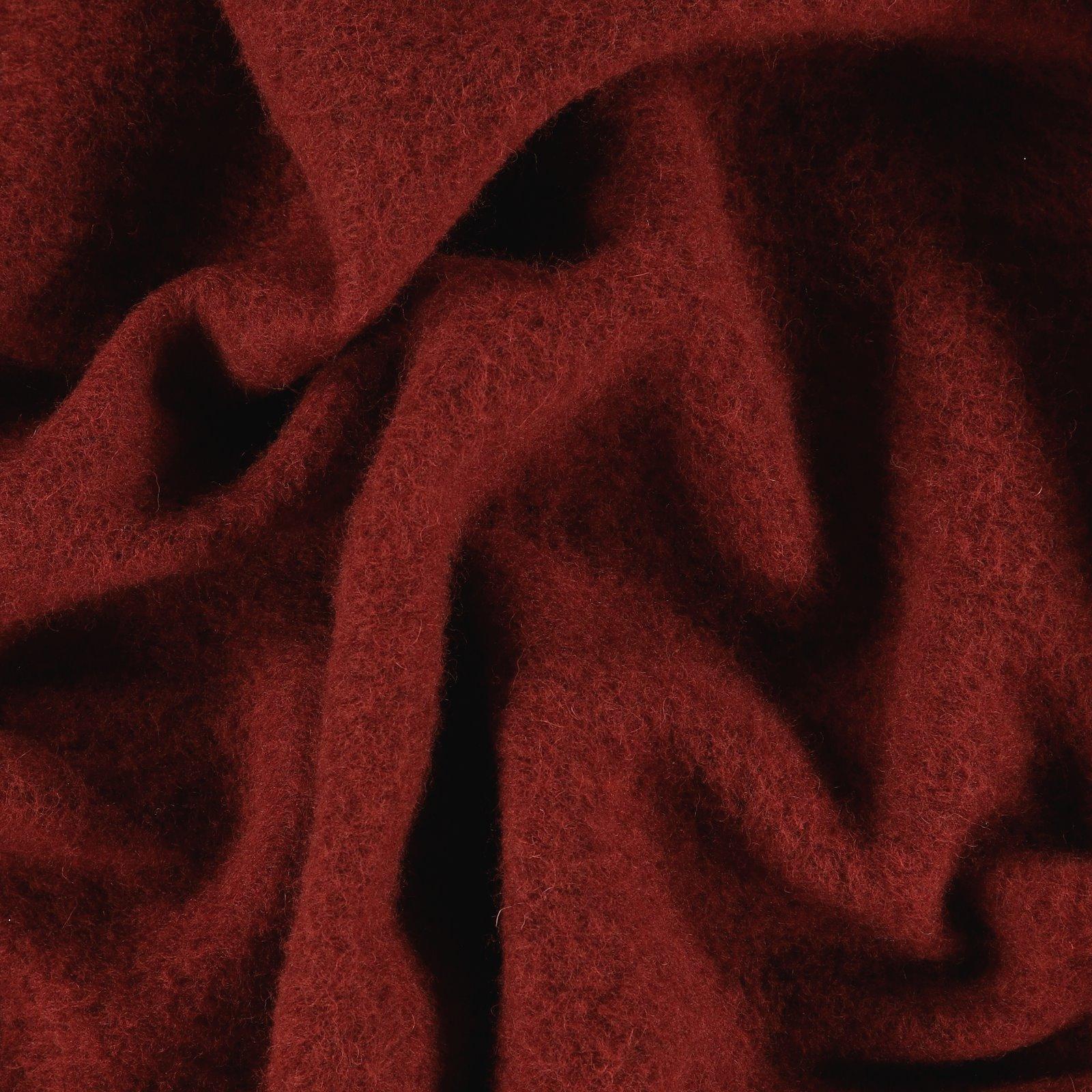 Wool felt dark rouge melange