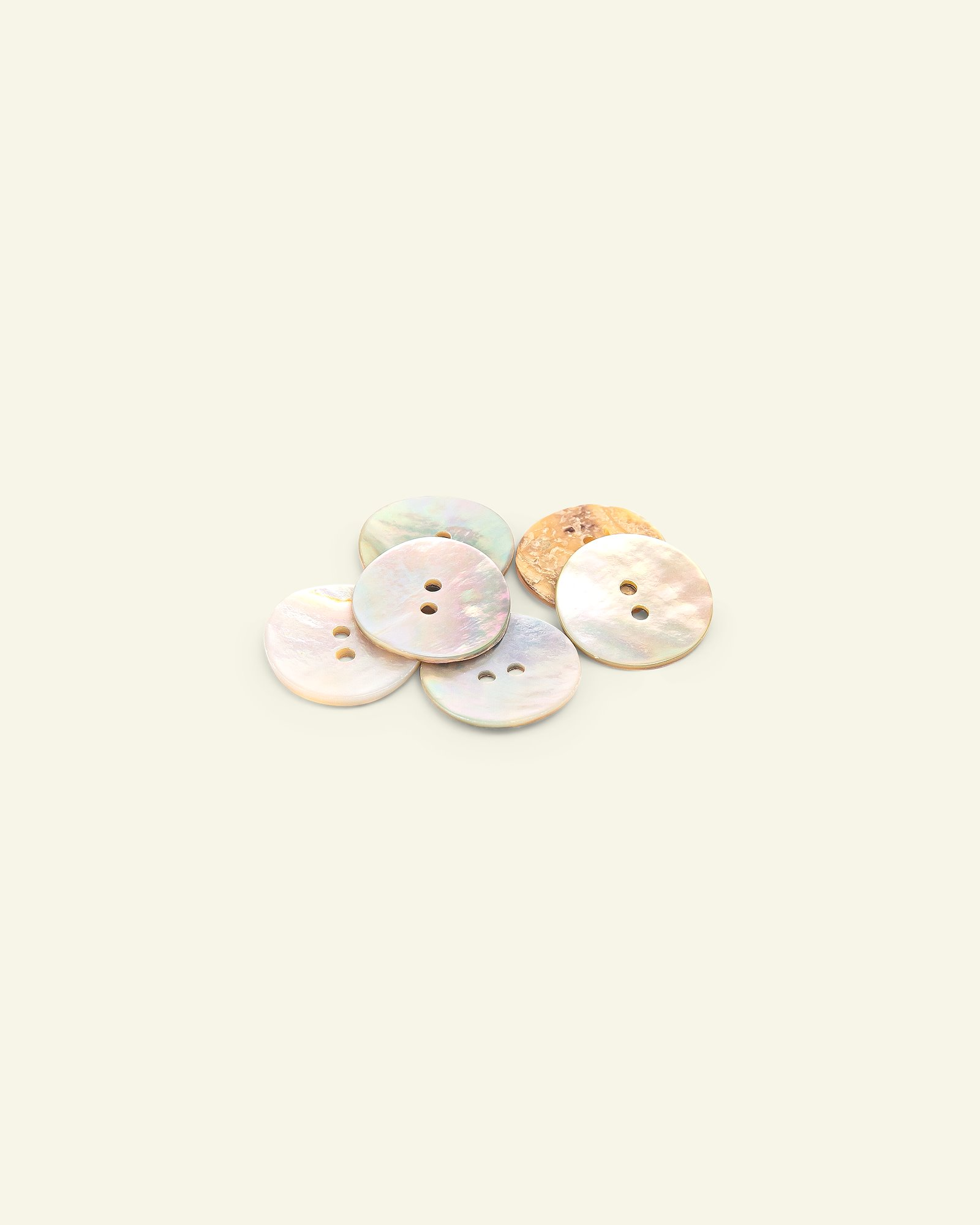 Button 2-holes mother of pearl 18mm 6pcs