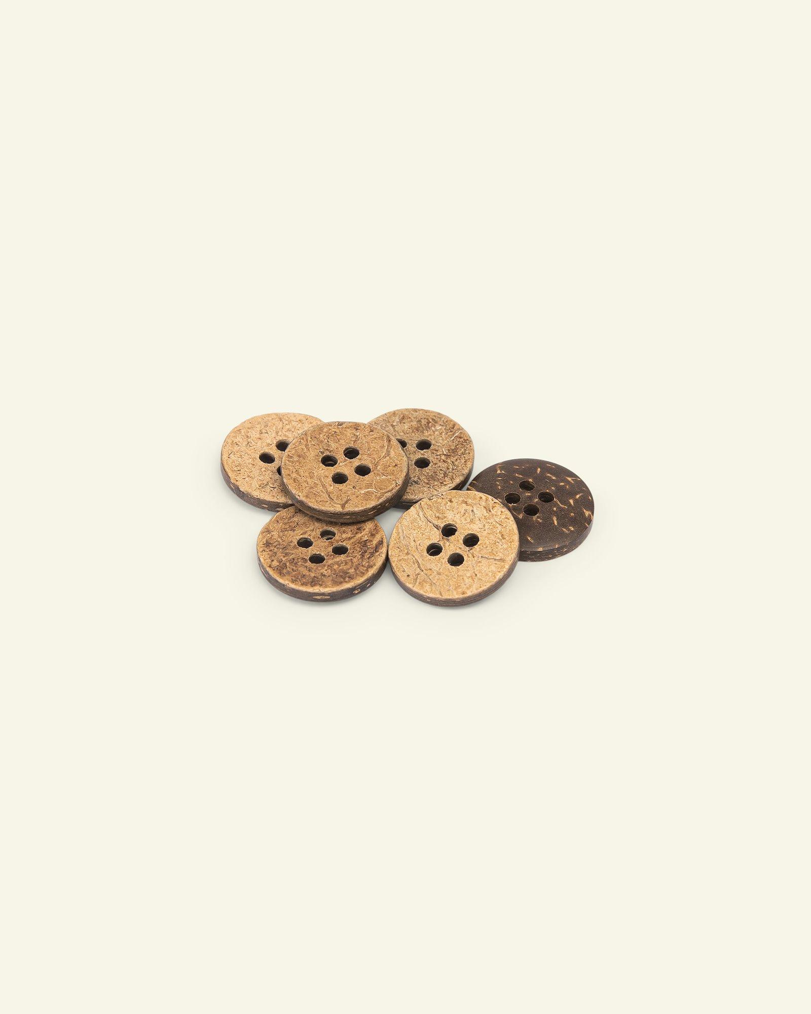 Button 4-holes coconut 18mm 6pcs