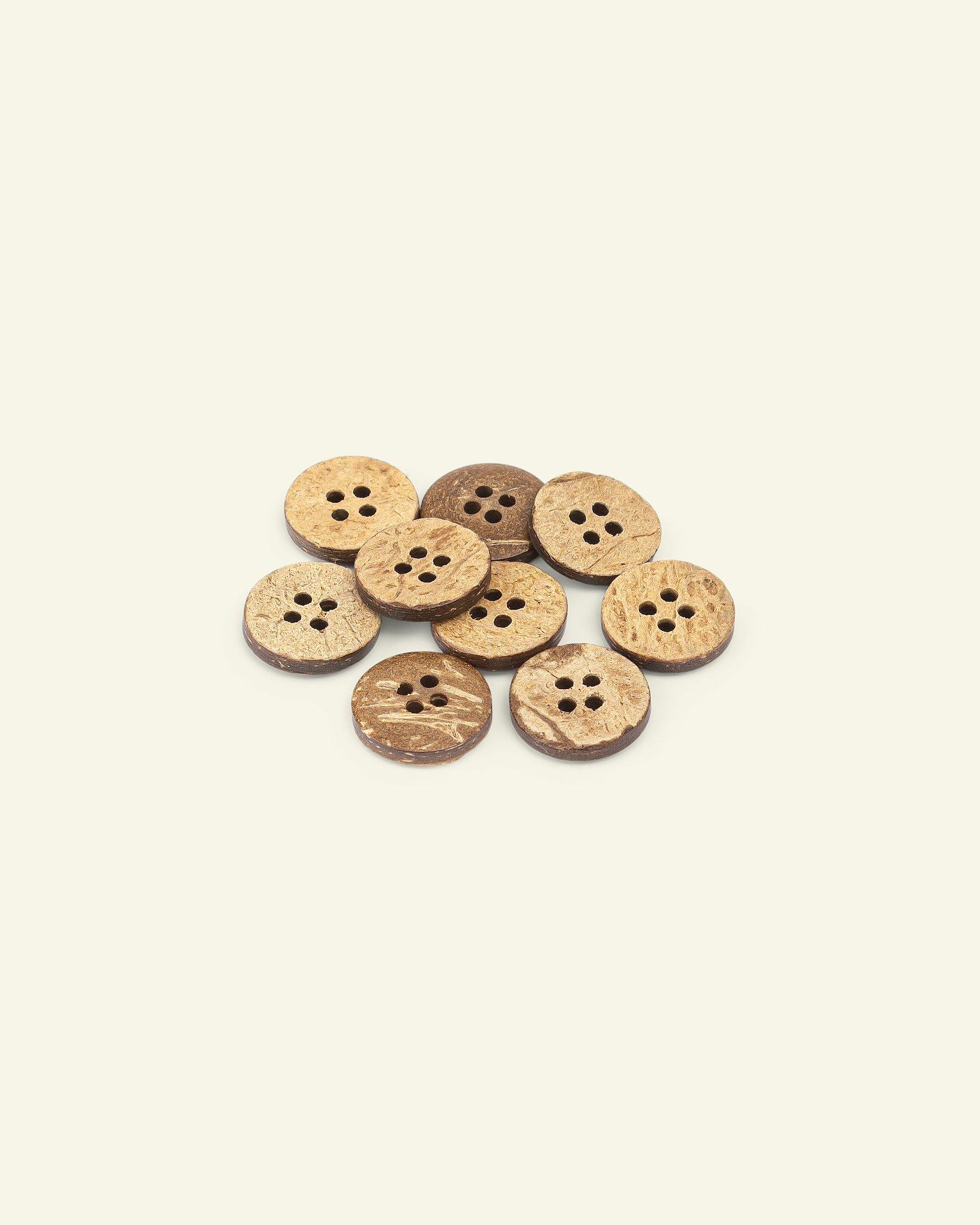 Button 4-holes coconut 15mm 10pcs