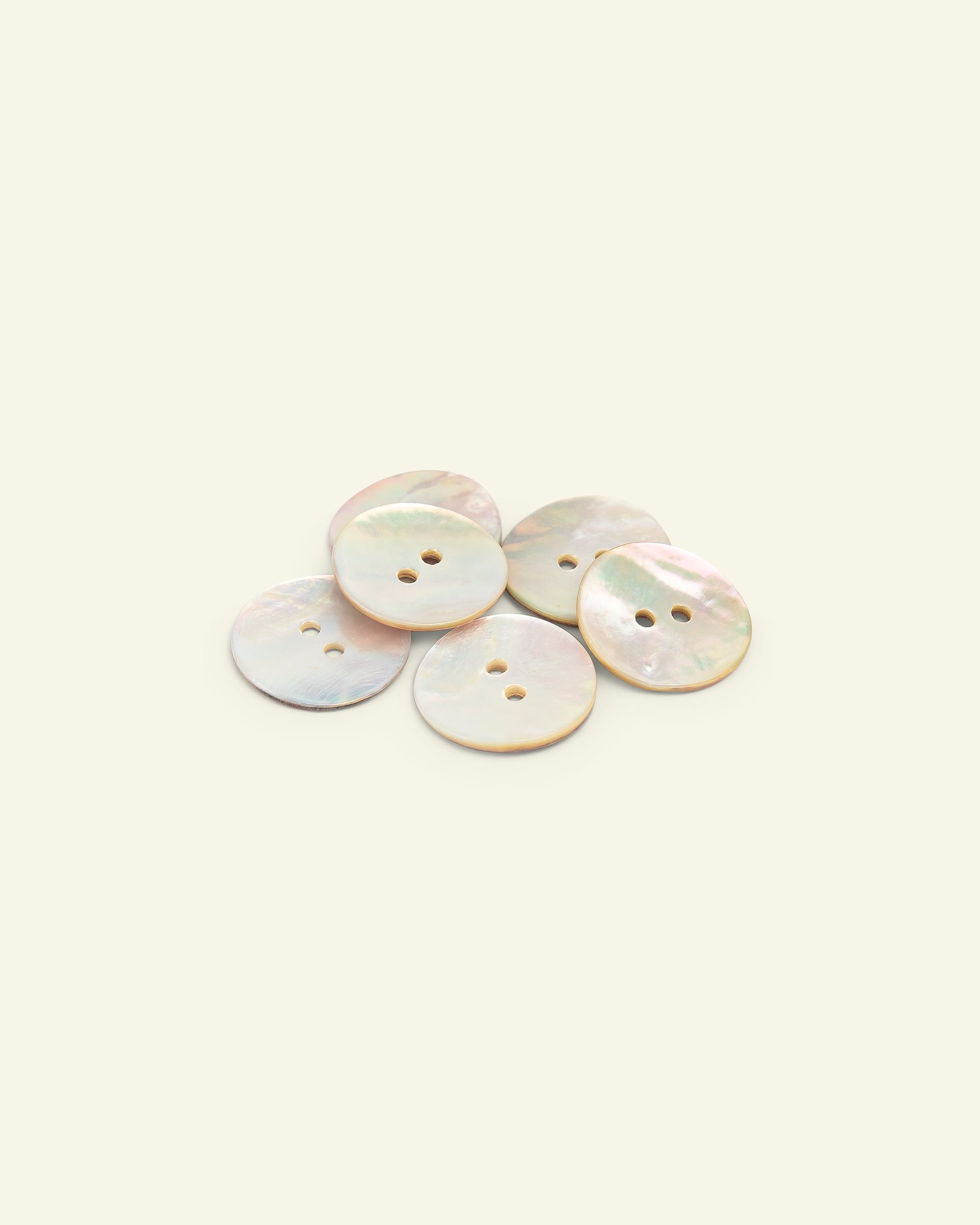 Button 2-holes mother of pearl 20mm 6pcs
