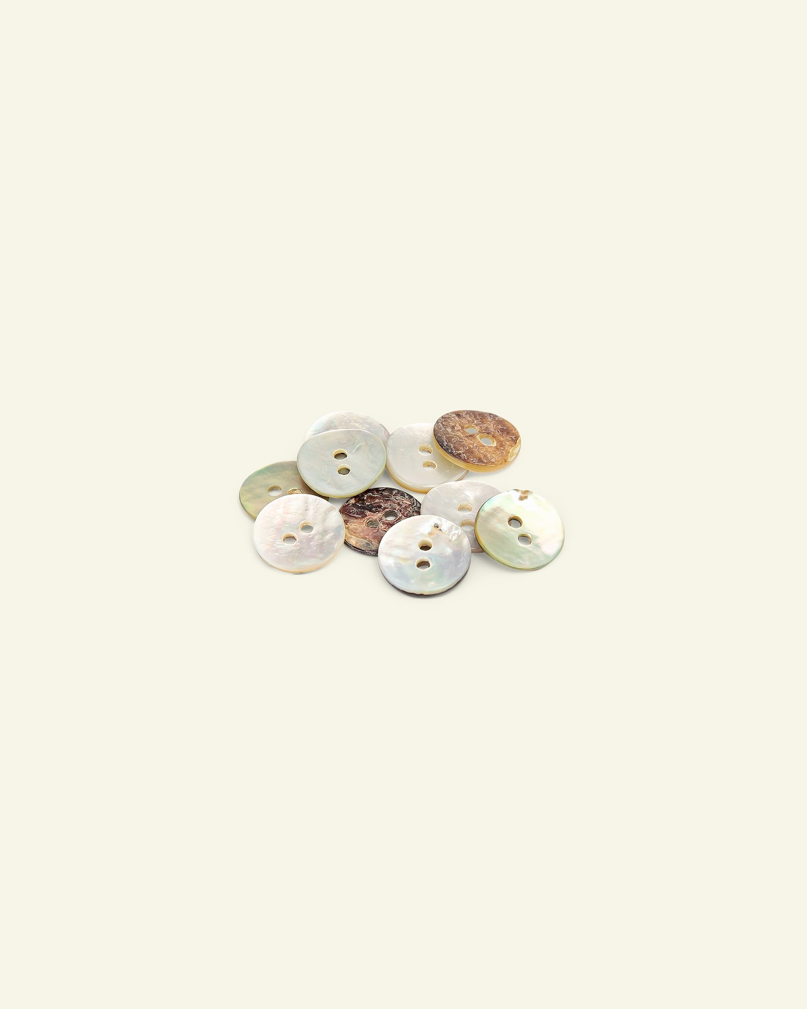 Button 2-holes mother of pearl 12mm 10pc