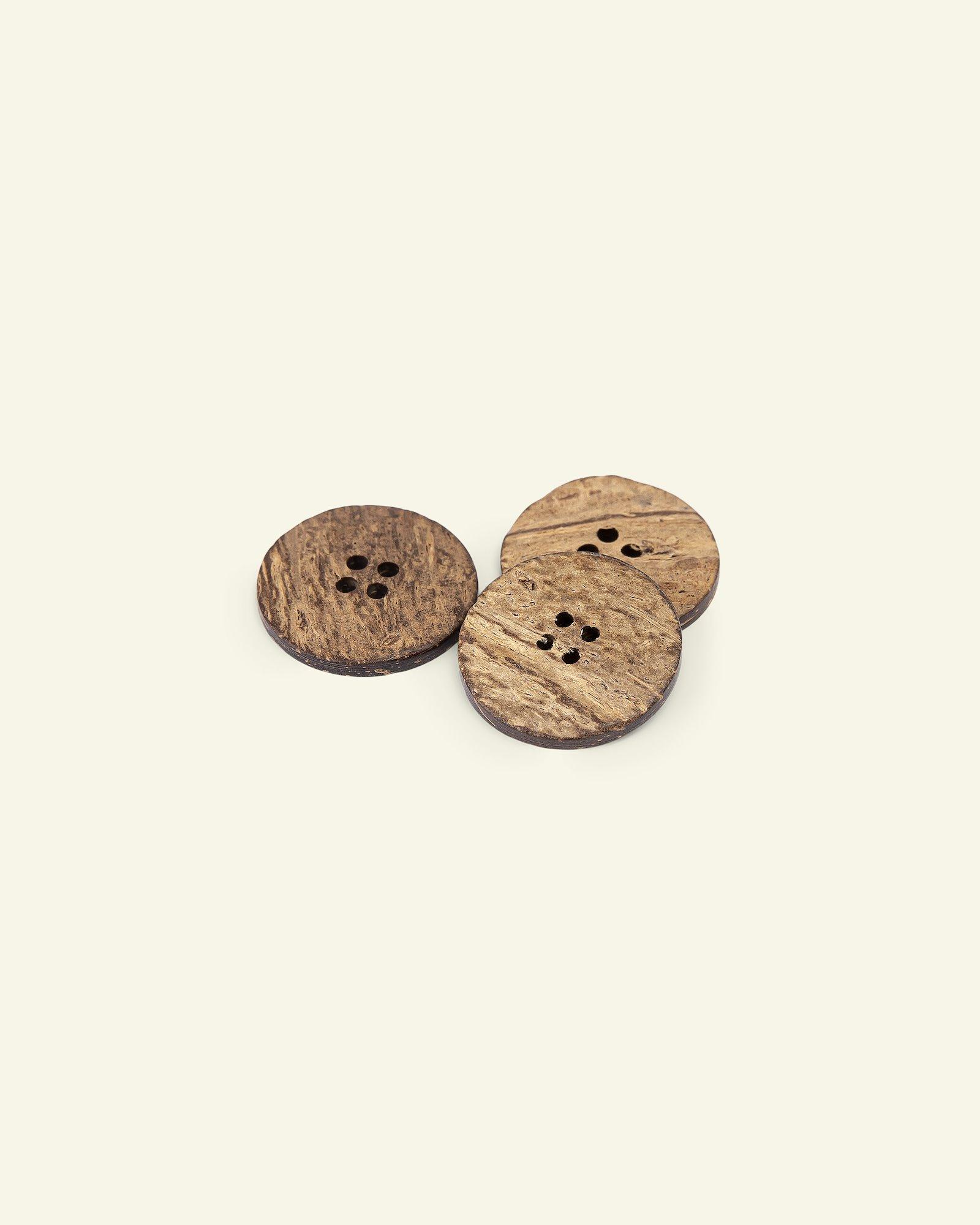 Button 4-holes coconut 25mm 3pcs