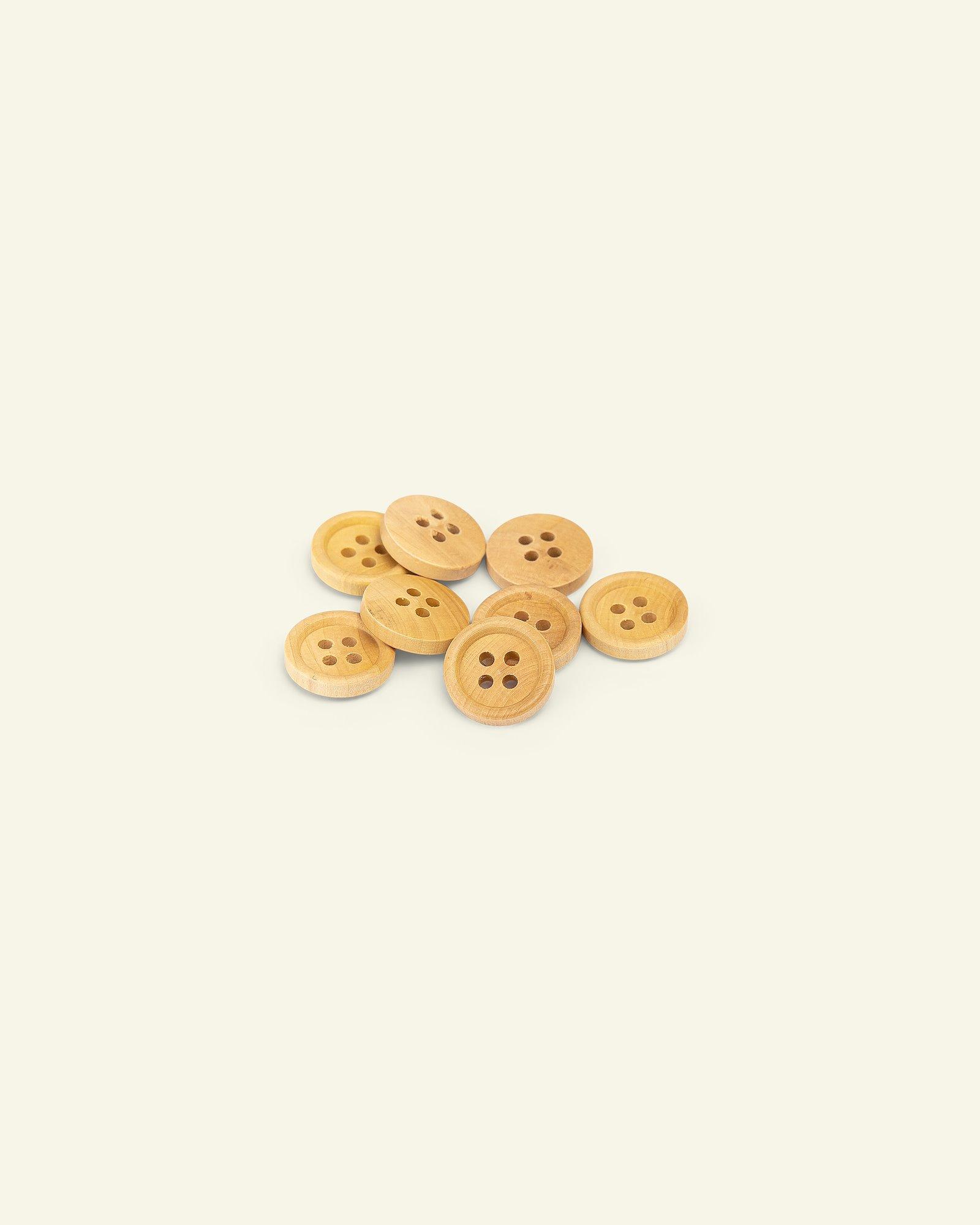 Button 4-holes wood w/rim 13mm 8pcs