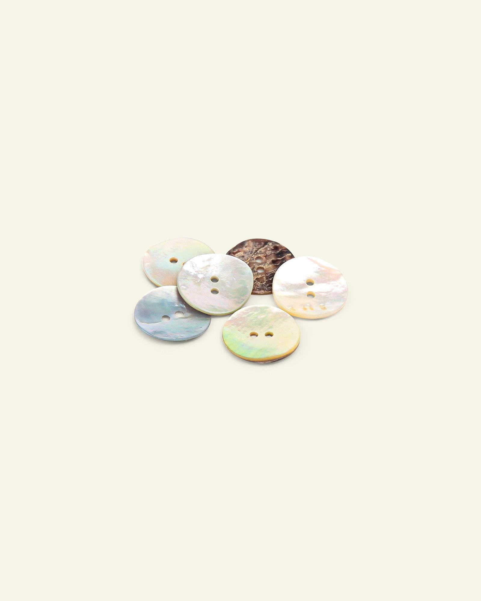 Button 2-holes coconut 18mm 6pcs