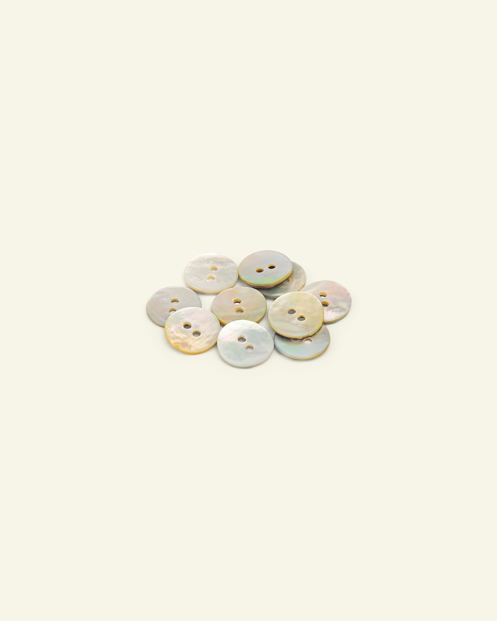 Button 2-holes pear look12mm brown 10pcs