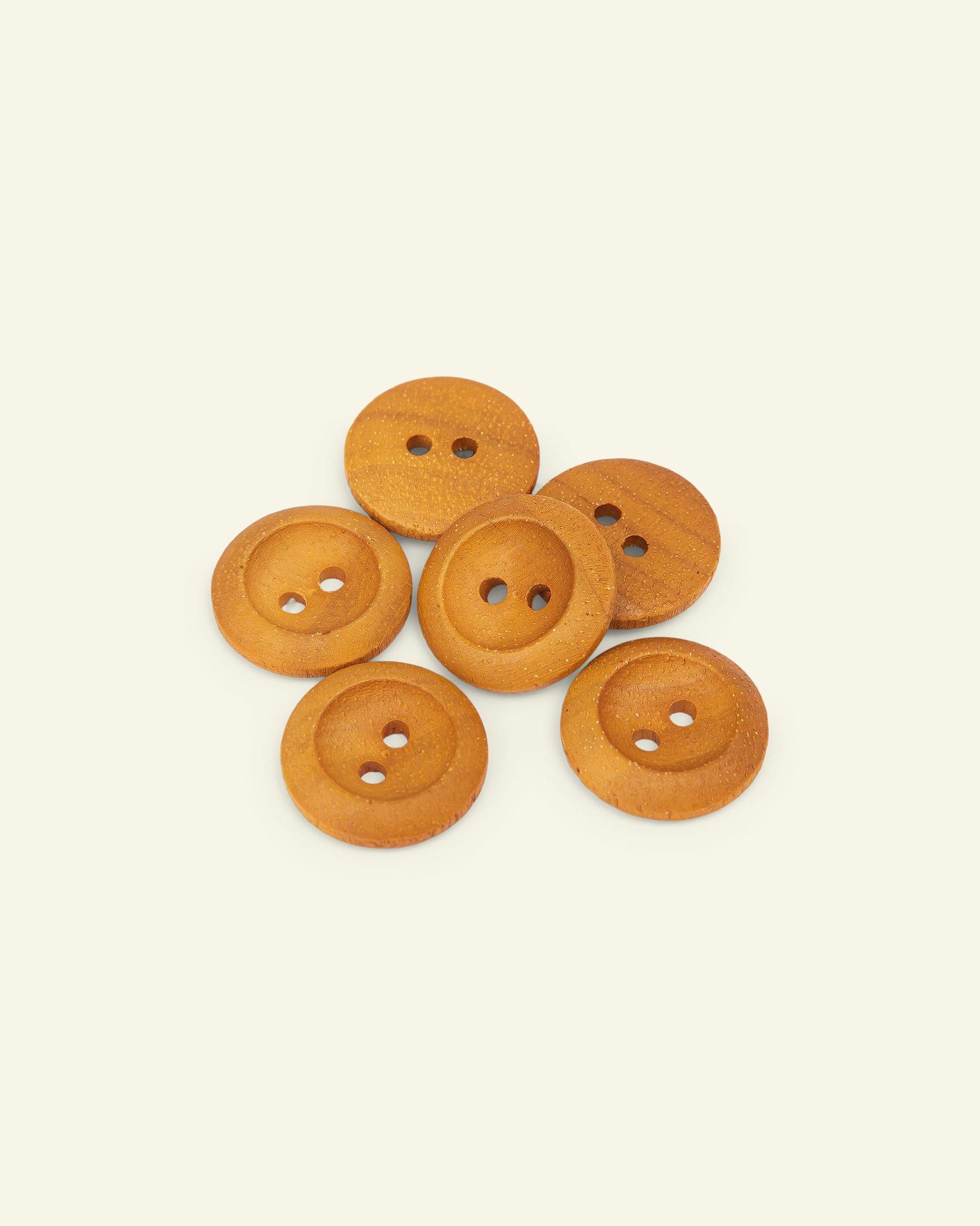 Button 2-holes olive w/rim 22mm 6pcs
