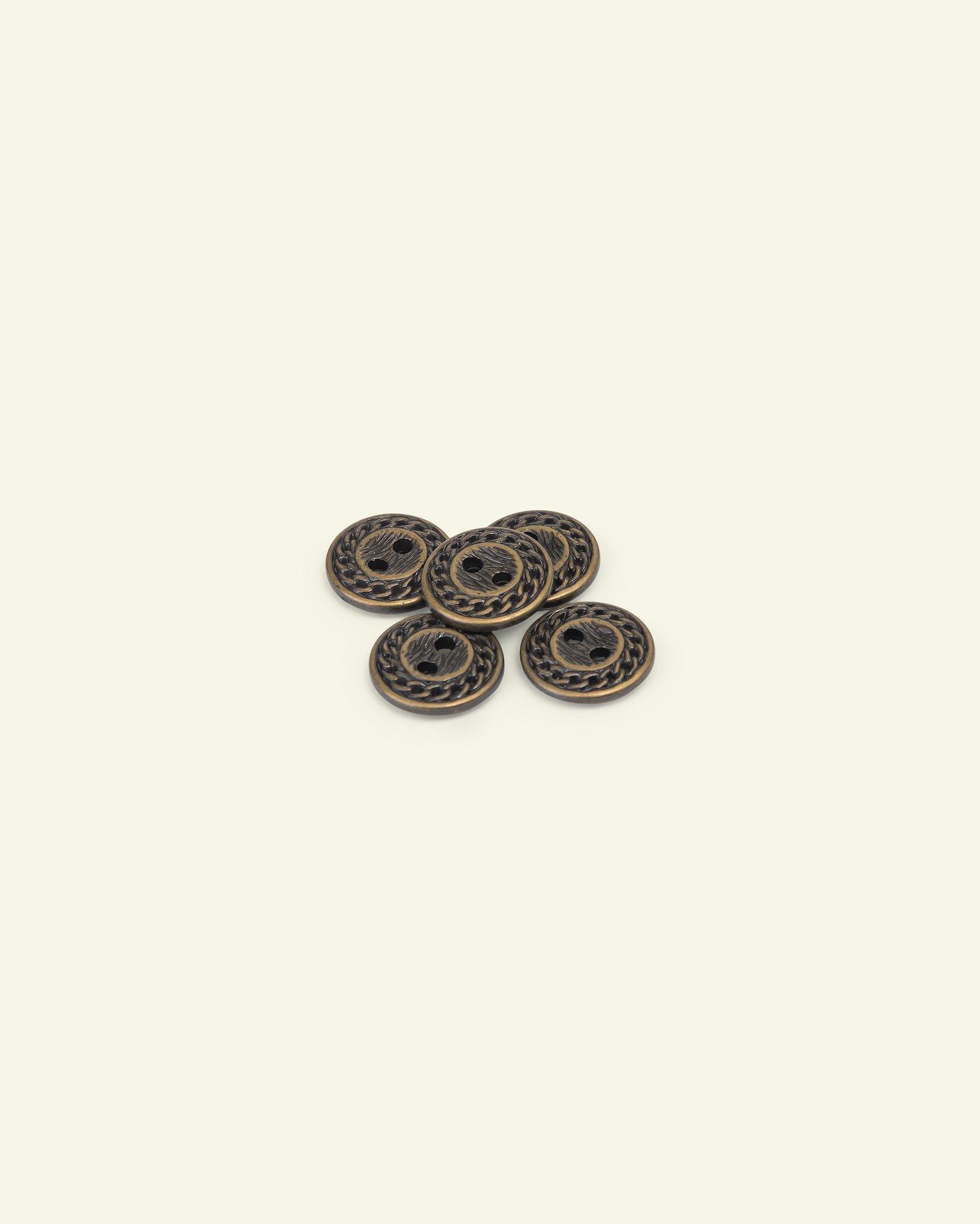Button 2-holes rope edge 24mm gold 5pcs