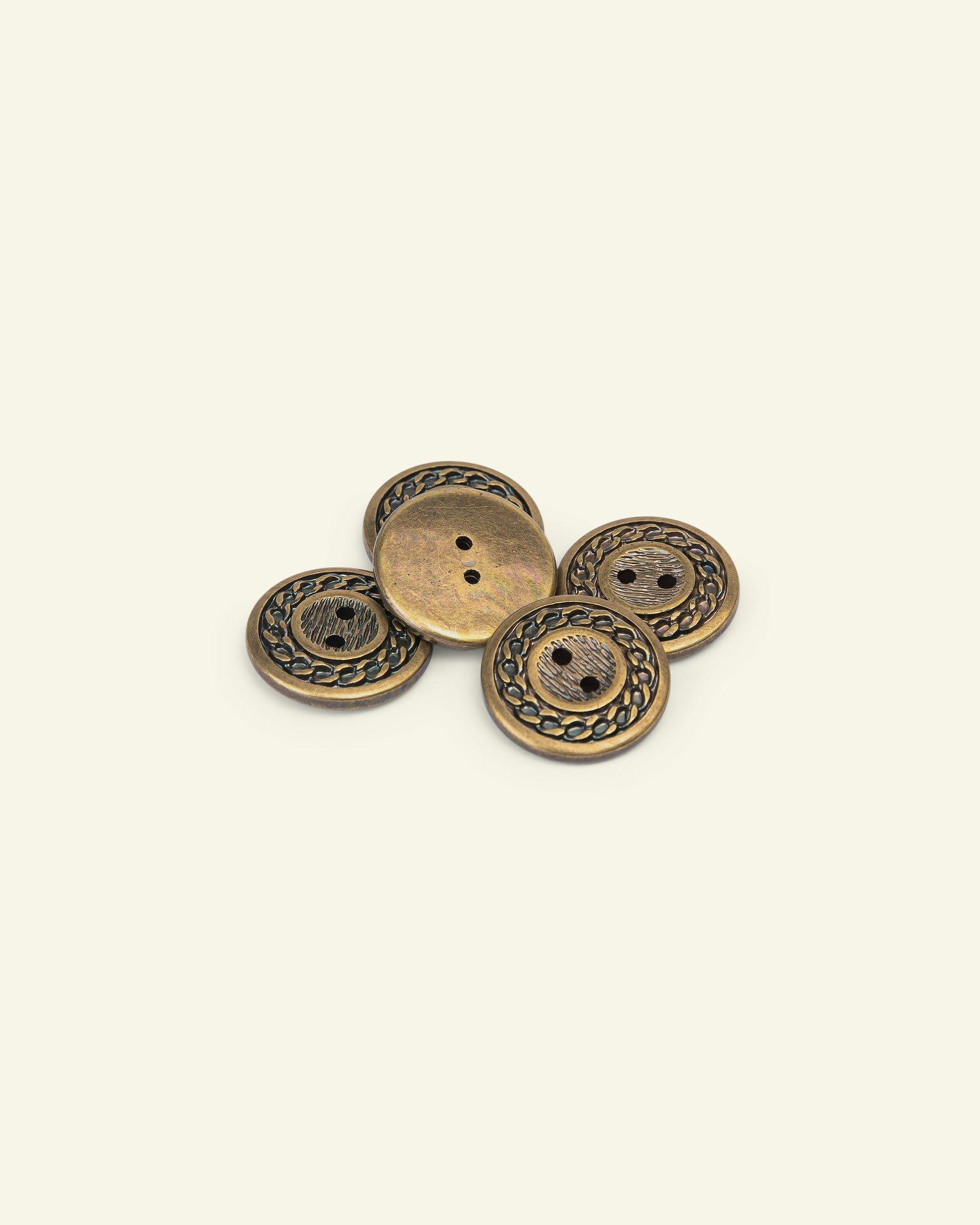Button 2-holes rope edge 32mm gold 5pcs